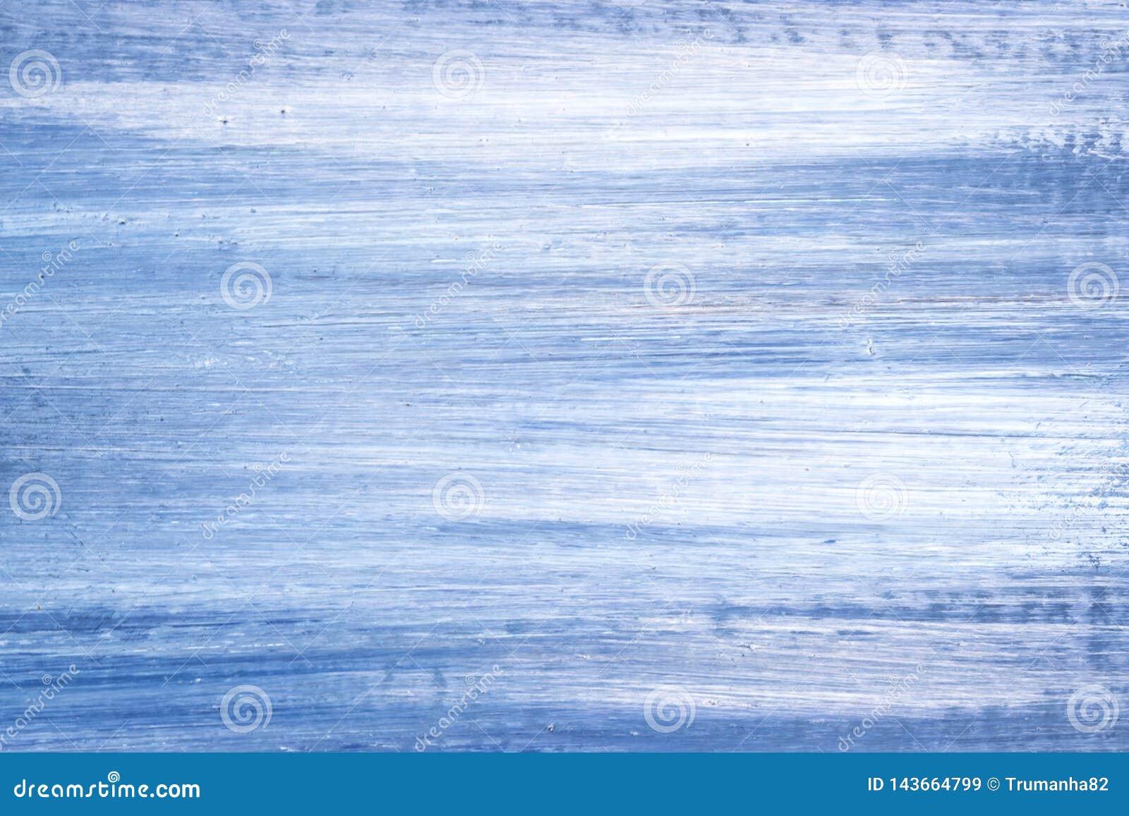 Blauw en Wit Olieverfschilderijdetail