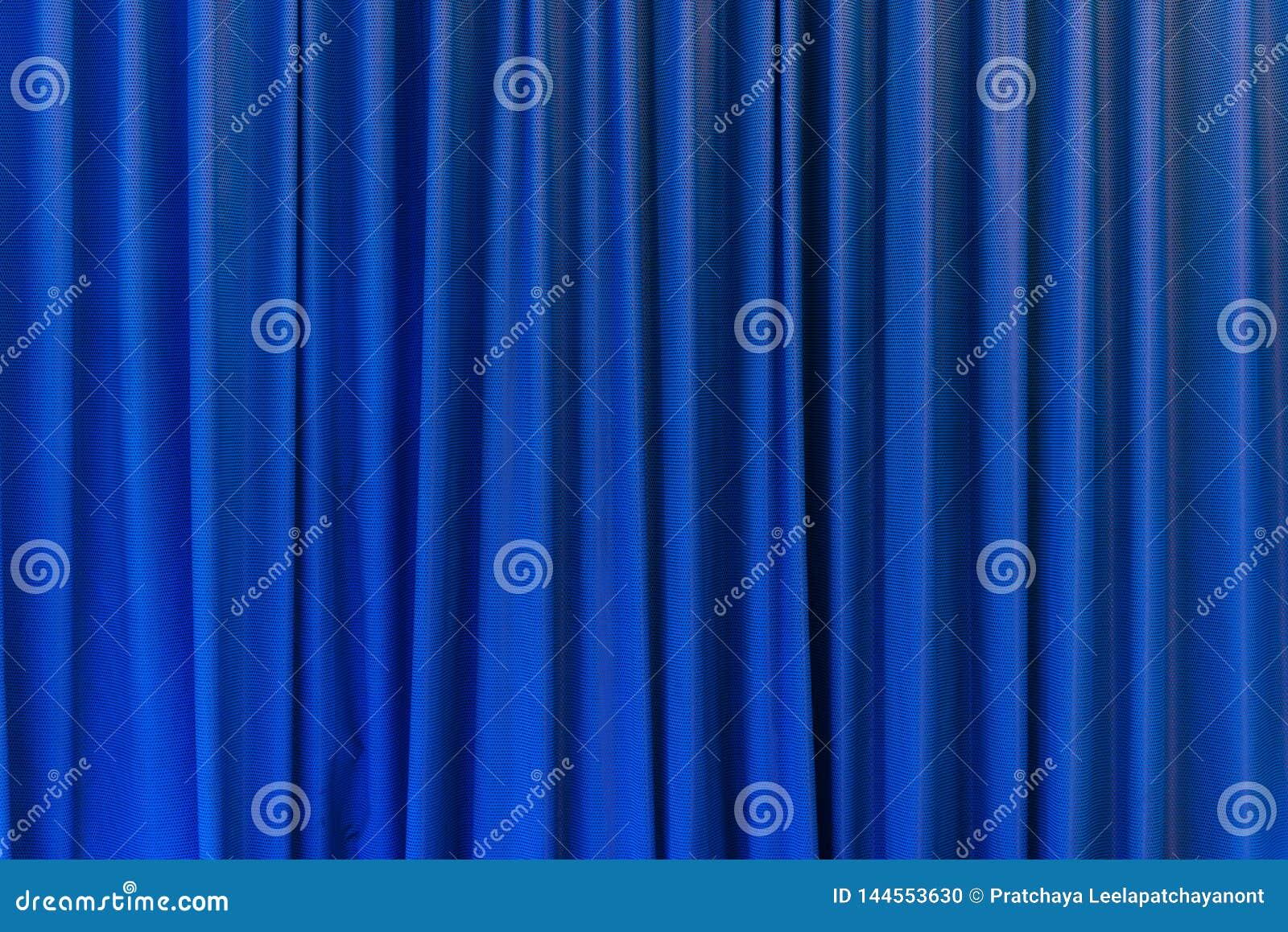 Blauw gordijngebruik voor achtergrond