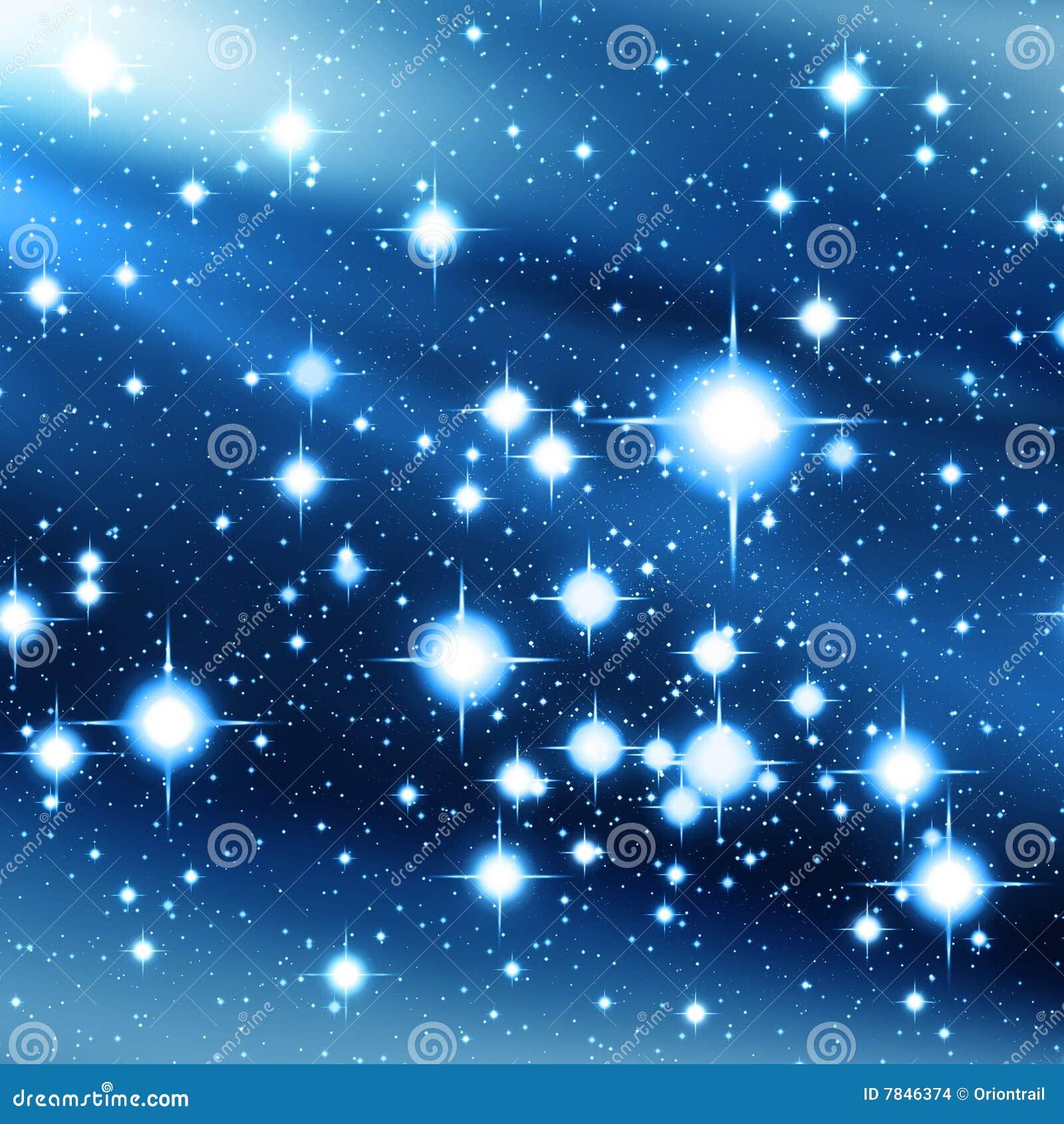 Schoudertas Met Sterren : Blauw heelal met heldere sterren stock afbeeldingen