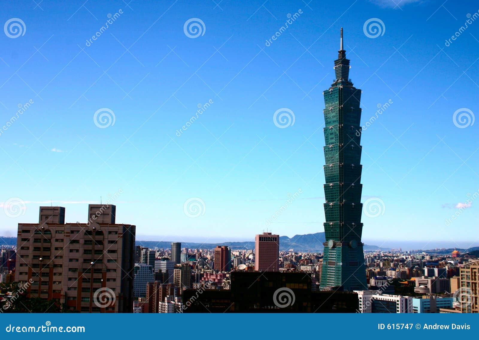 Blauw Hemel en Taipeh 101