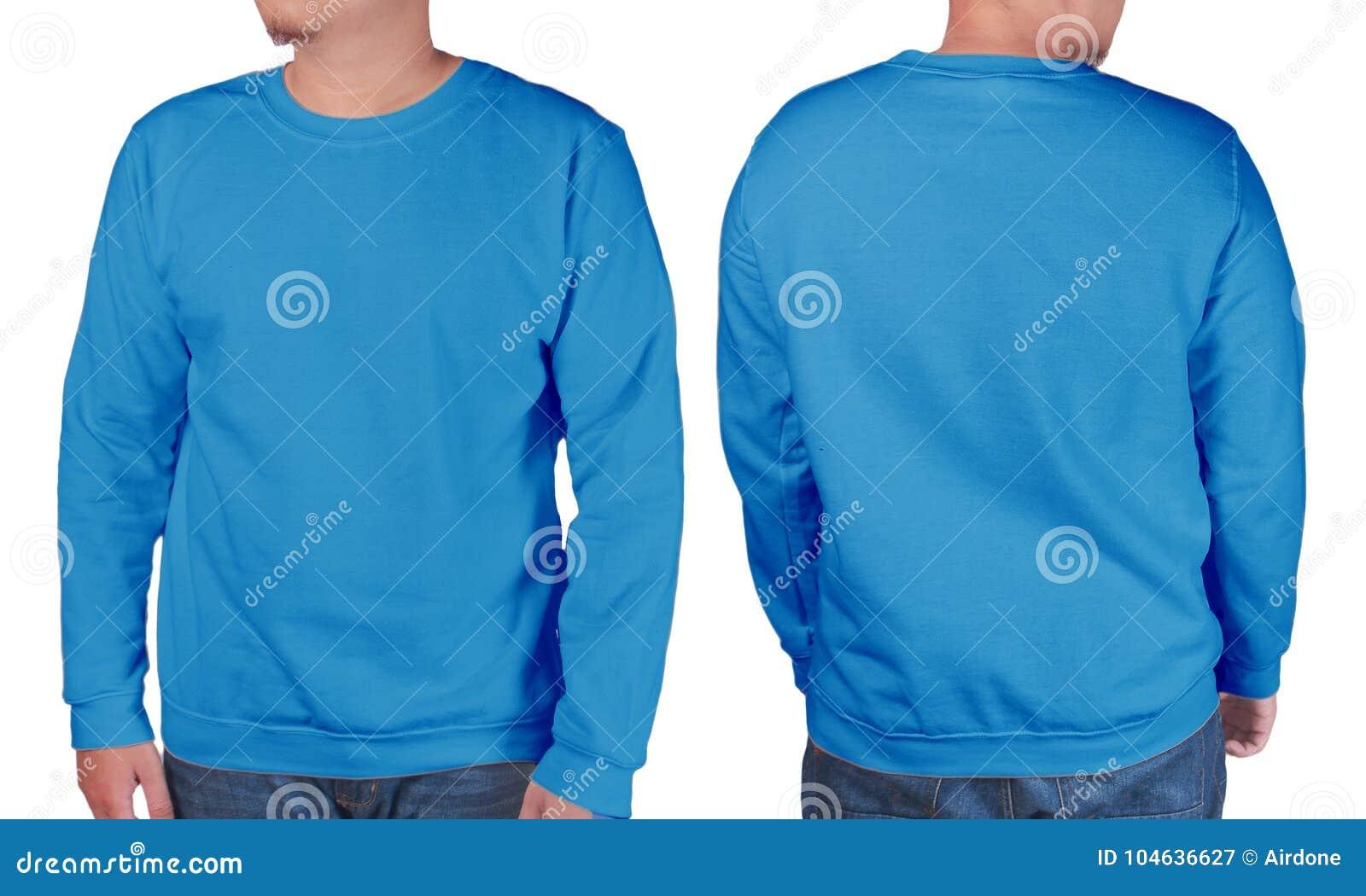 Download Blauw Het Modelmalplaatje Van Het Sweater Lang Sleeved Overhemd Stock Afbeelding - Afbeelding bestaande uit verkoop, toevallig: 104636627