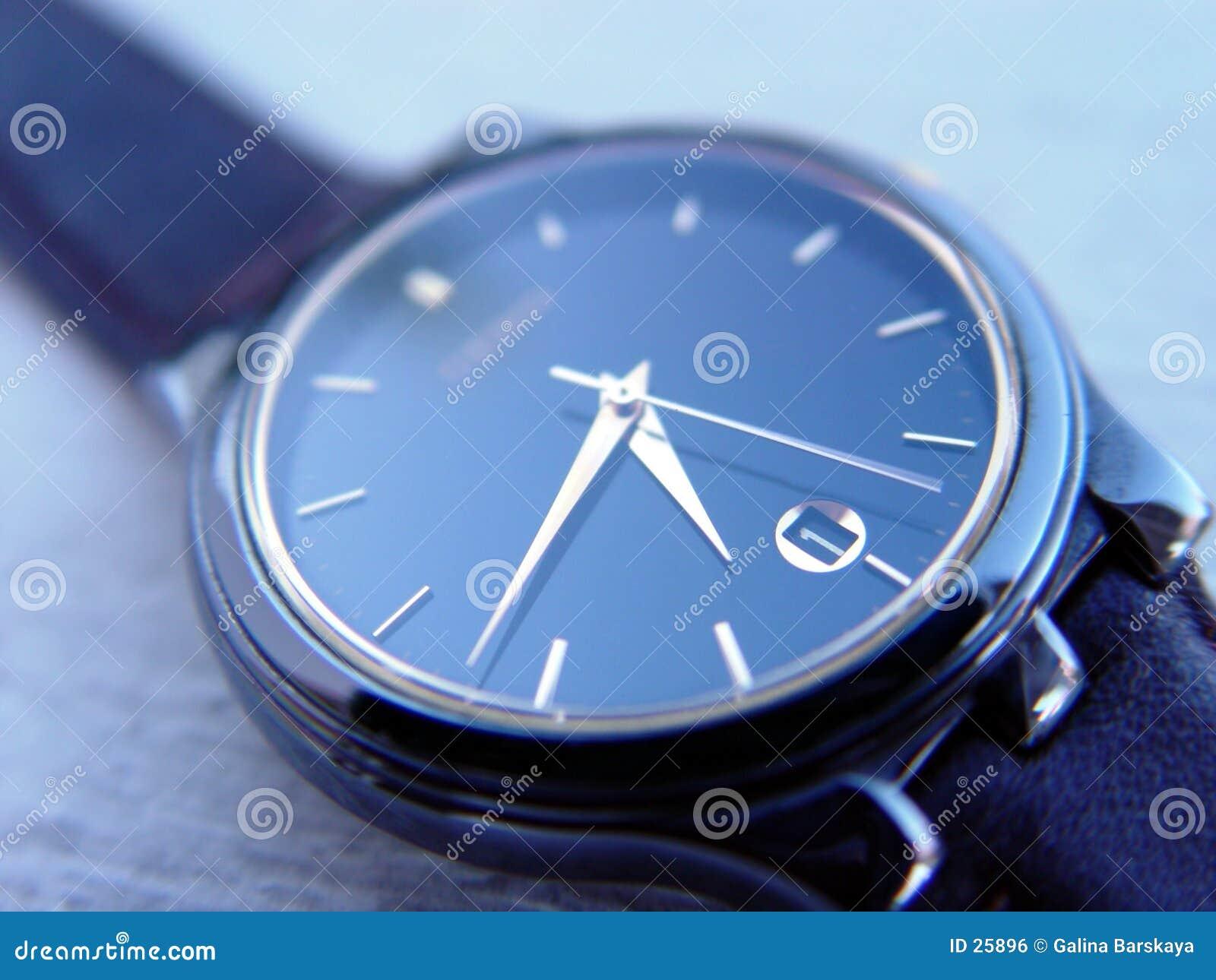 Blauw horloge