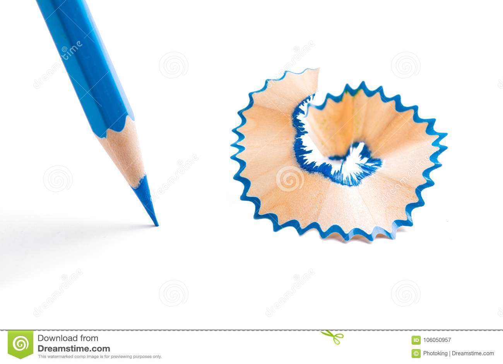 Blauw kleurenpotlood