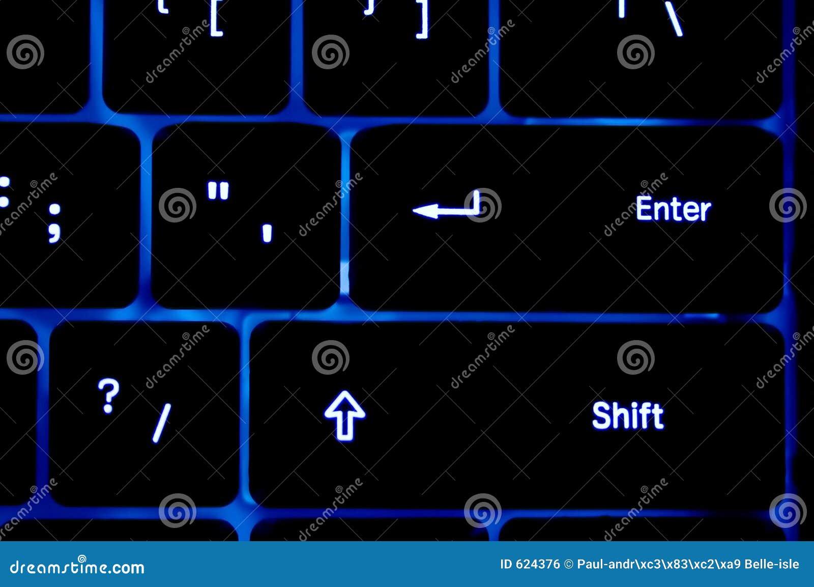 Blauw neonToetsenbord