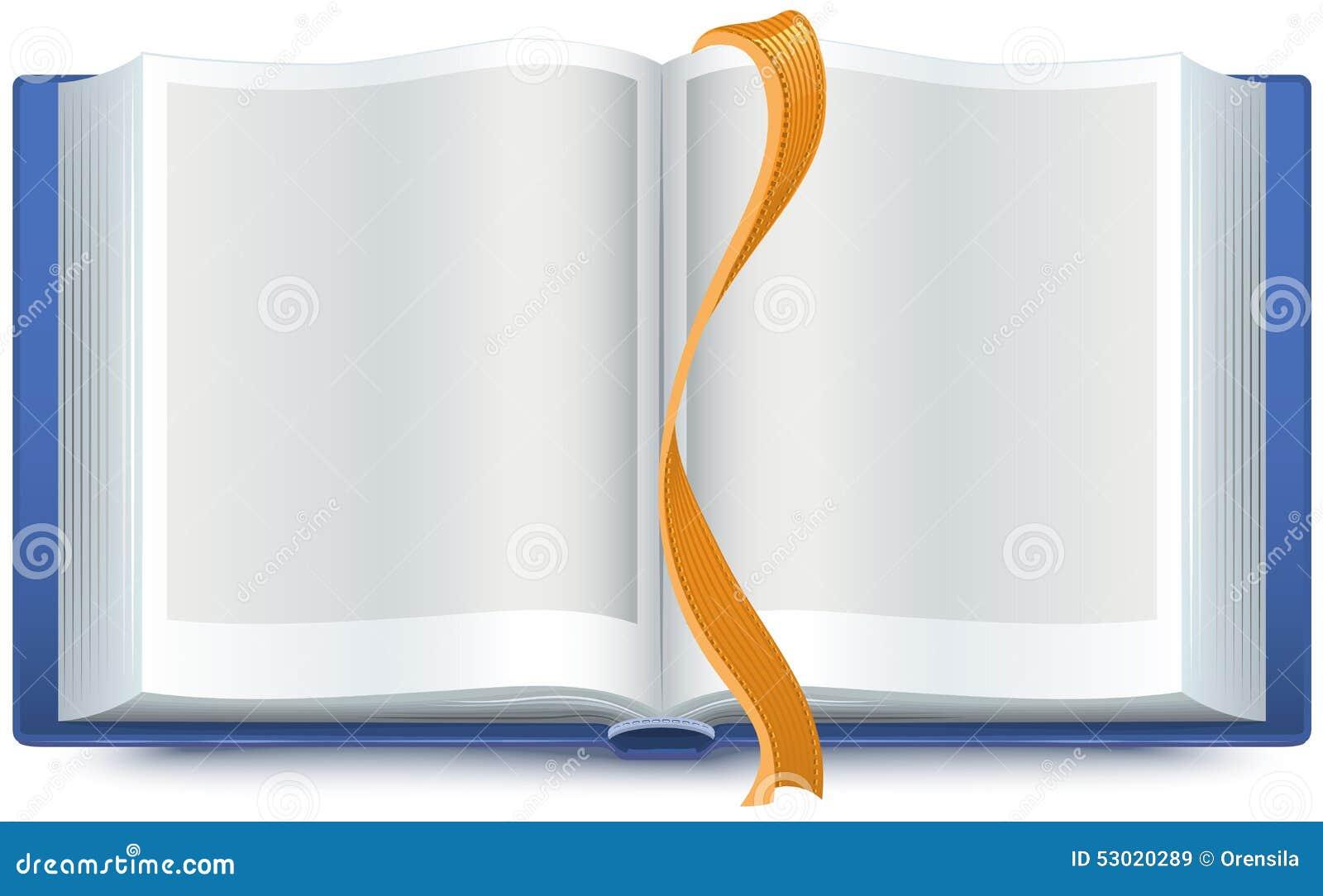 Blauw open boek met een referentie