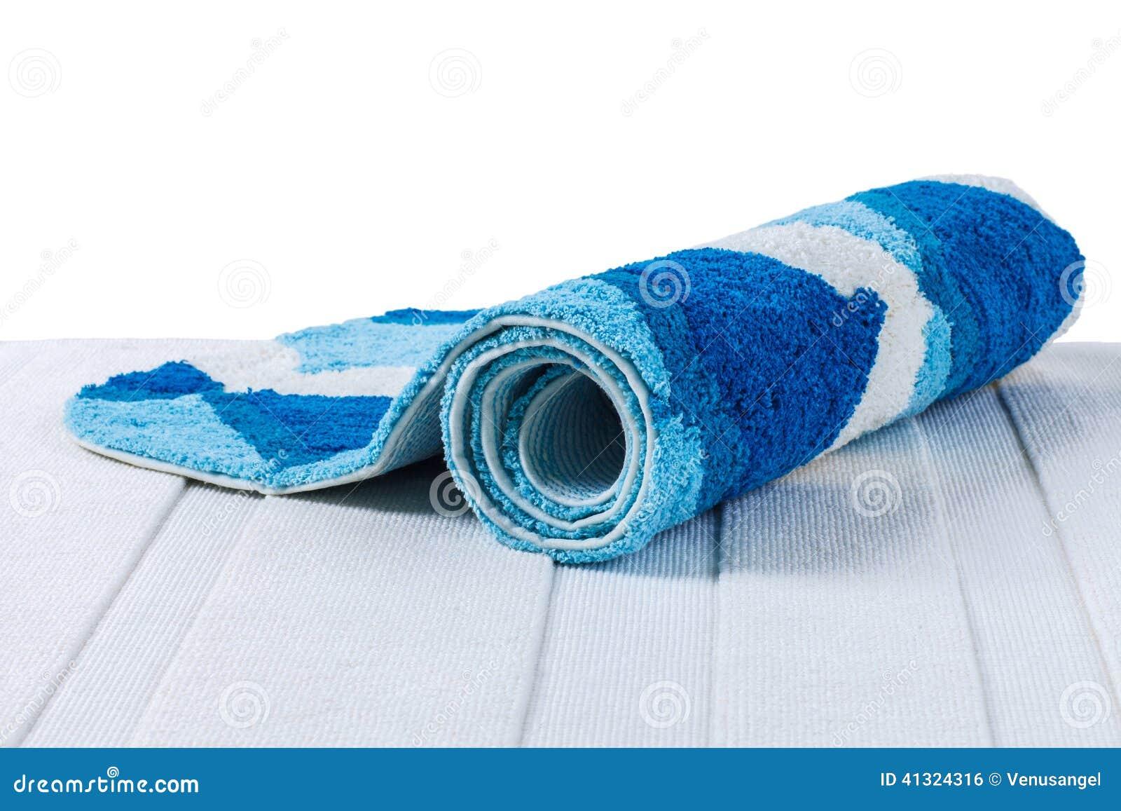 Blauw Opgerold Tapijt Stock Foto - Afbeelding: 41324316