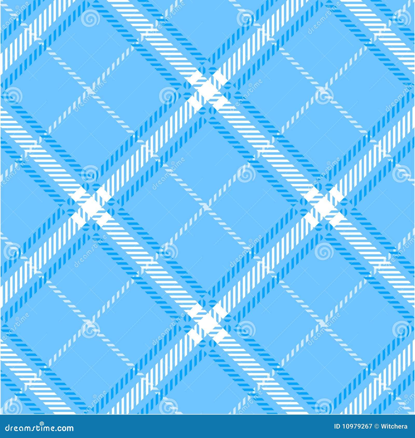 Blauw plaidpatroon