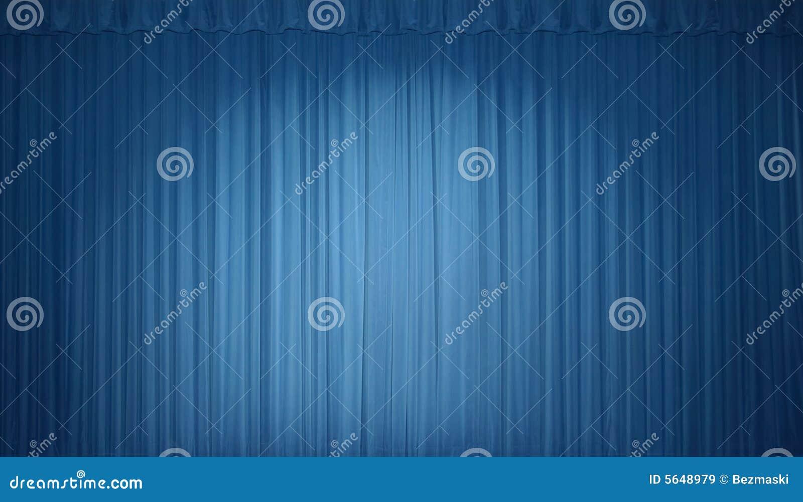 Blauw stadiumgordijn