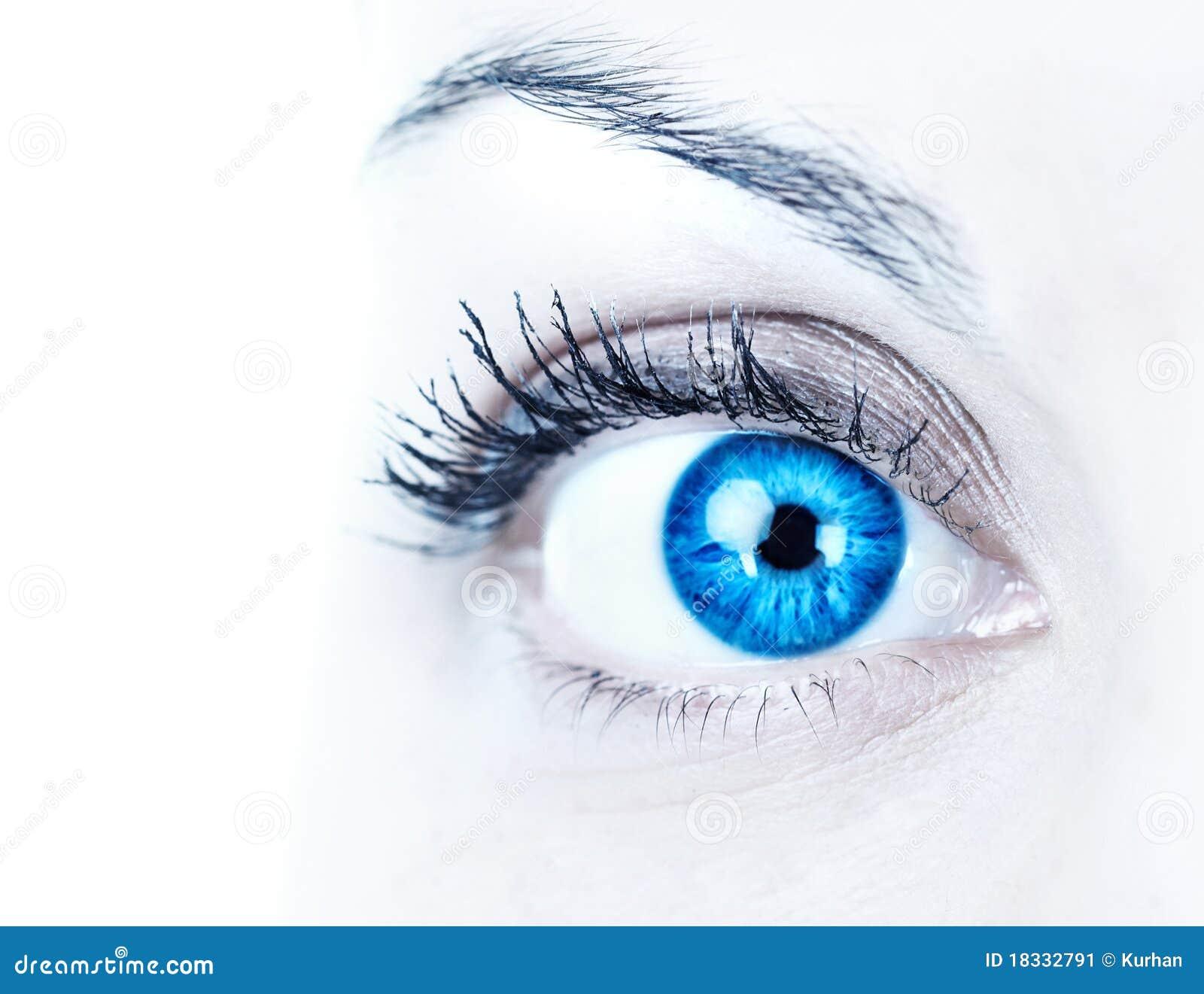 Blauw vrouwenoog