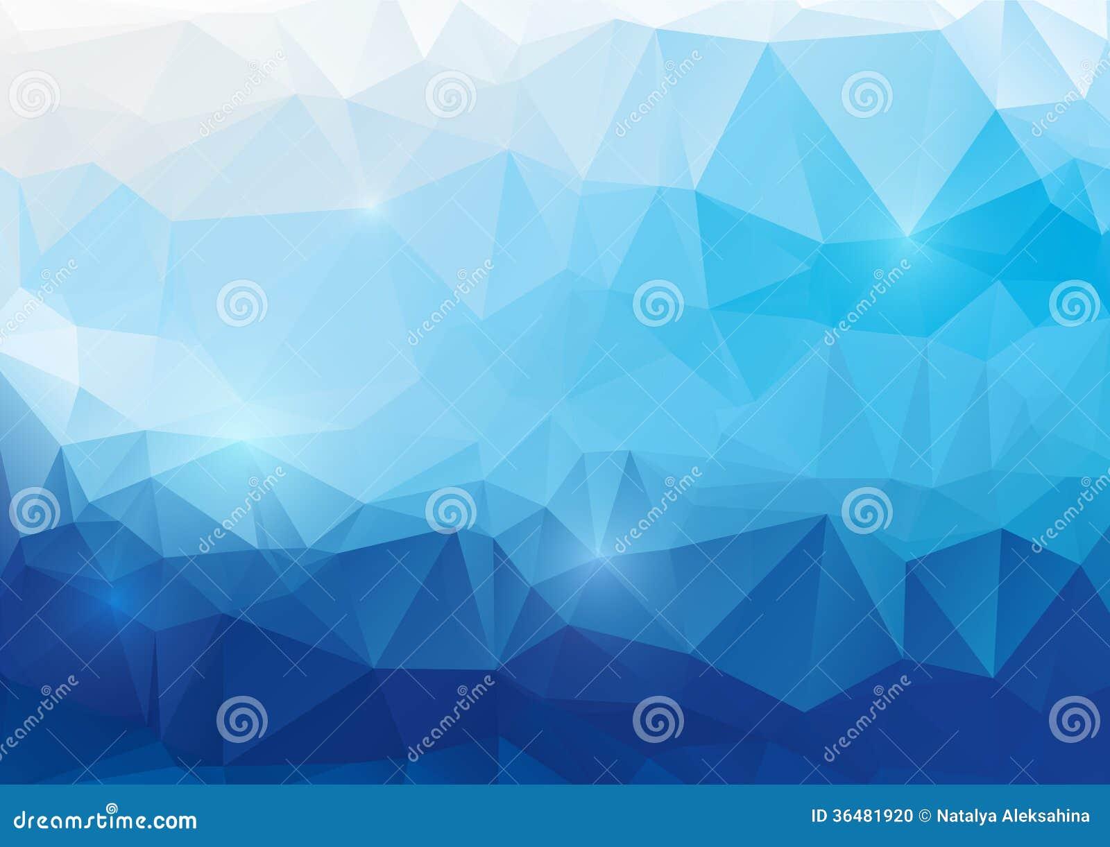 Blauwe abstracte veelhoekige achtergrond