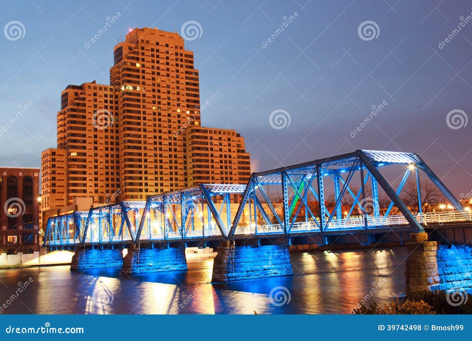 Blauwe Brug in Grand Rapids