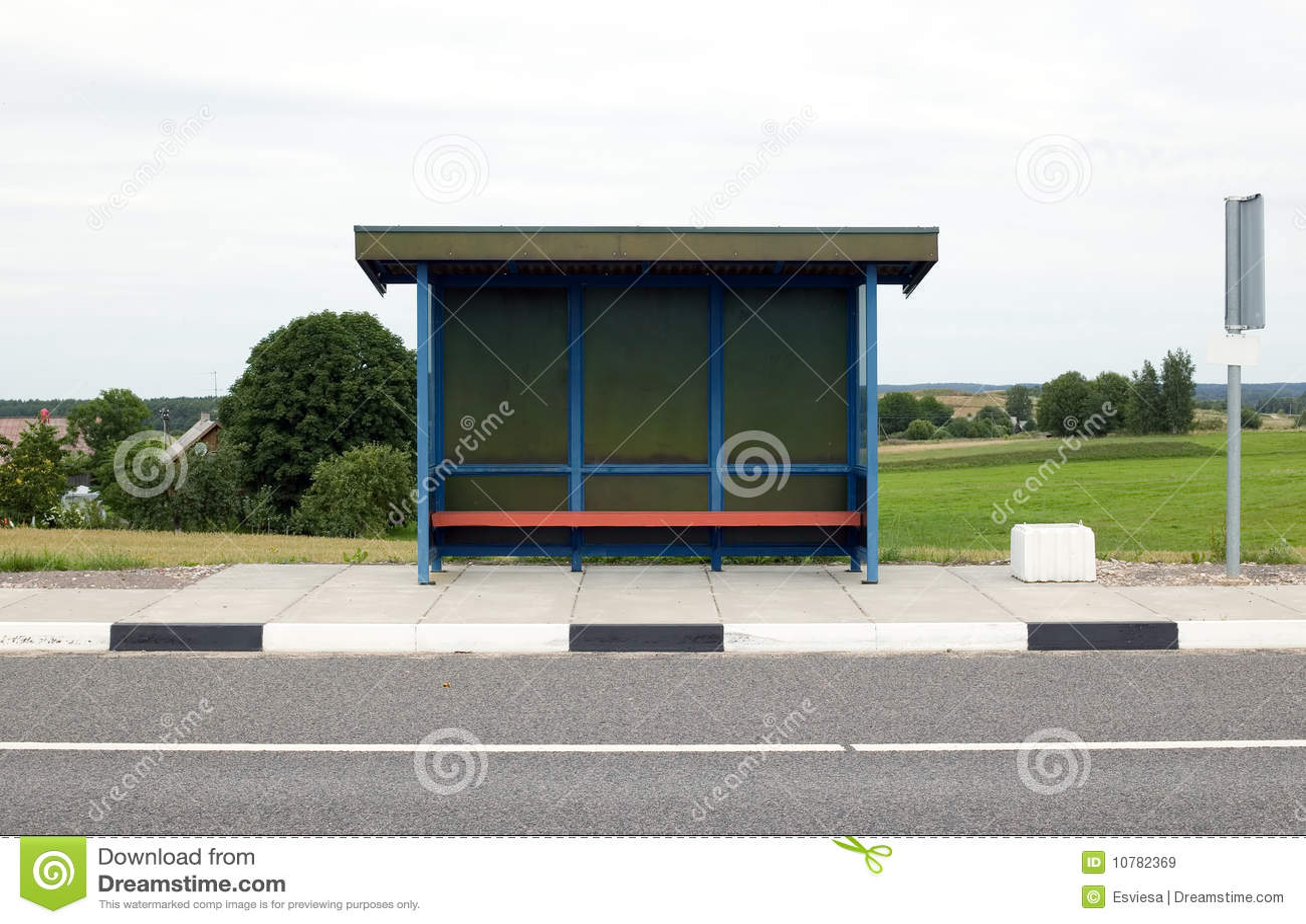 Blauwe bushalte