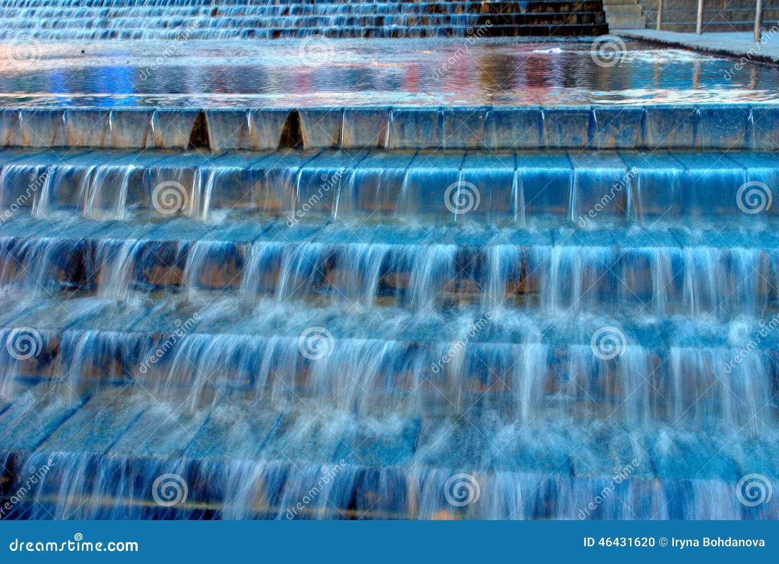 Blauwe cascadefontein