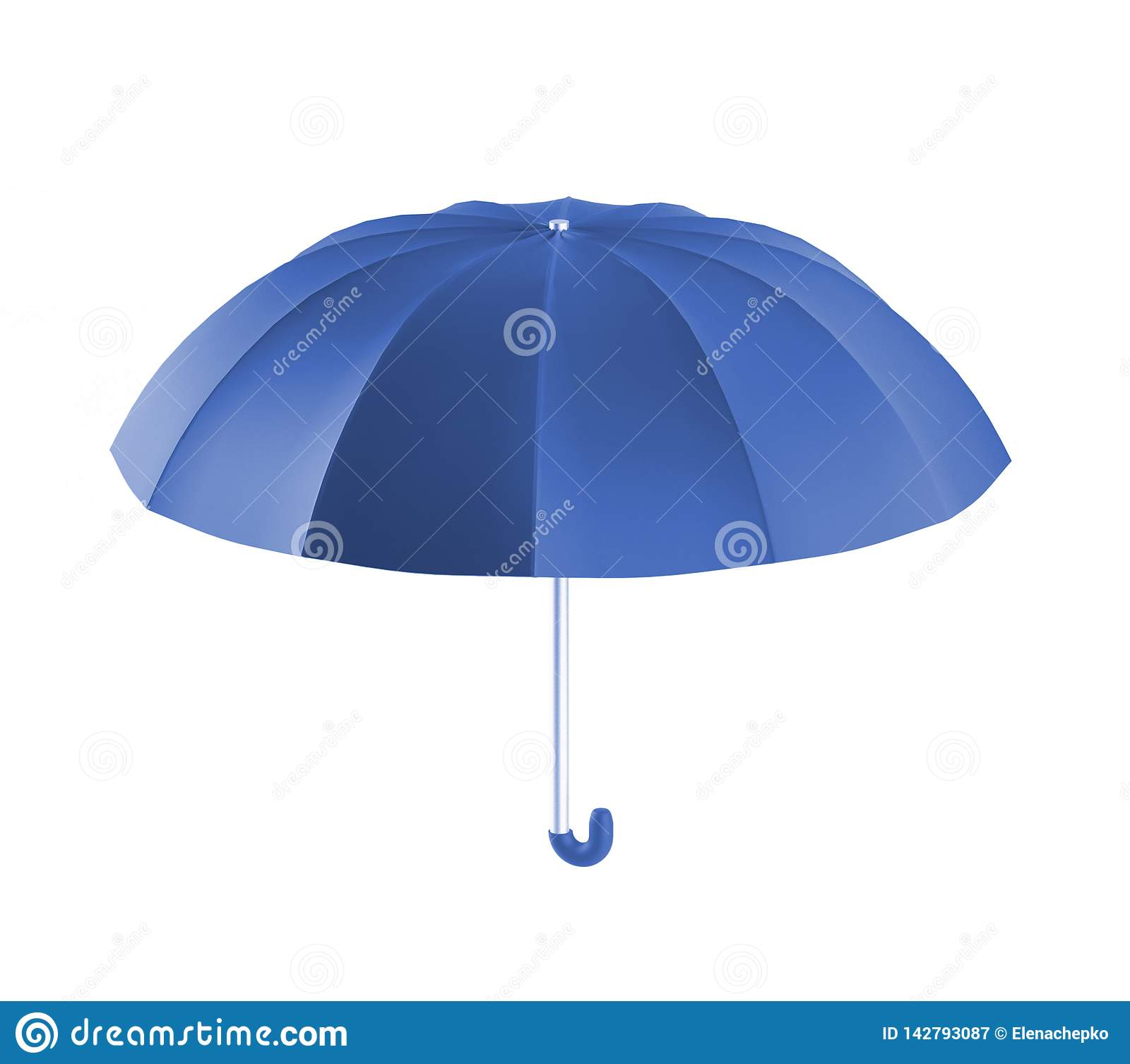 Blauwe de paraplu, 3d geeft terug