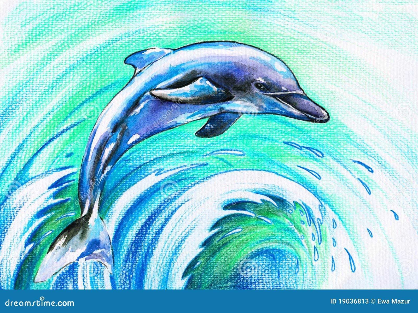 Blauwe dolfijn