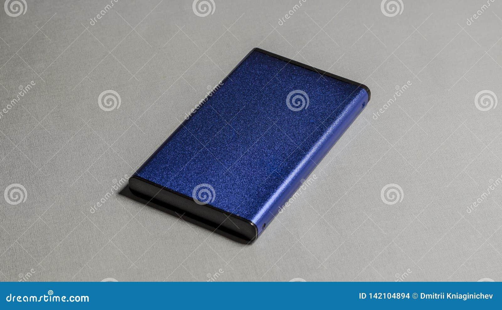 Blauwe doos voor elektronika voorwerp