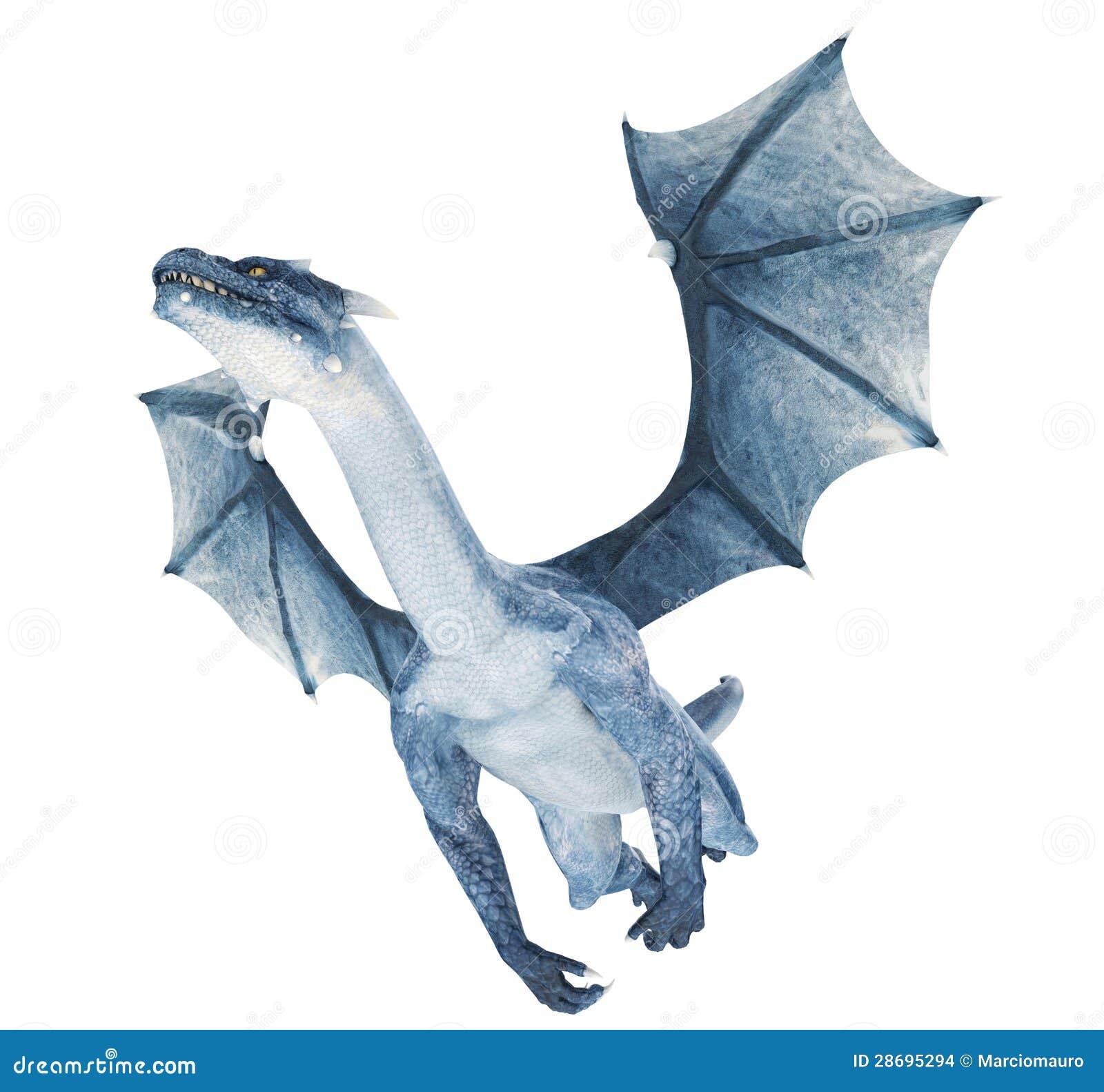 De Blauwe Draak.Blauwe Draak Stock Illustratie Illustratie Bestaande Uit Hunting