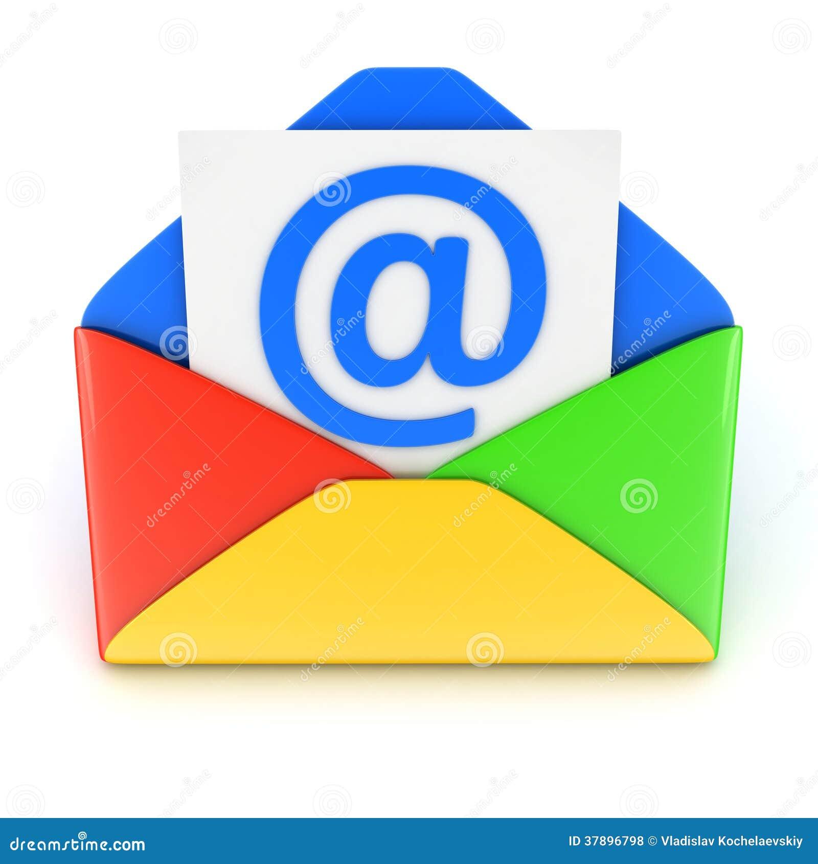 Blauwe E-mail