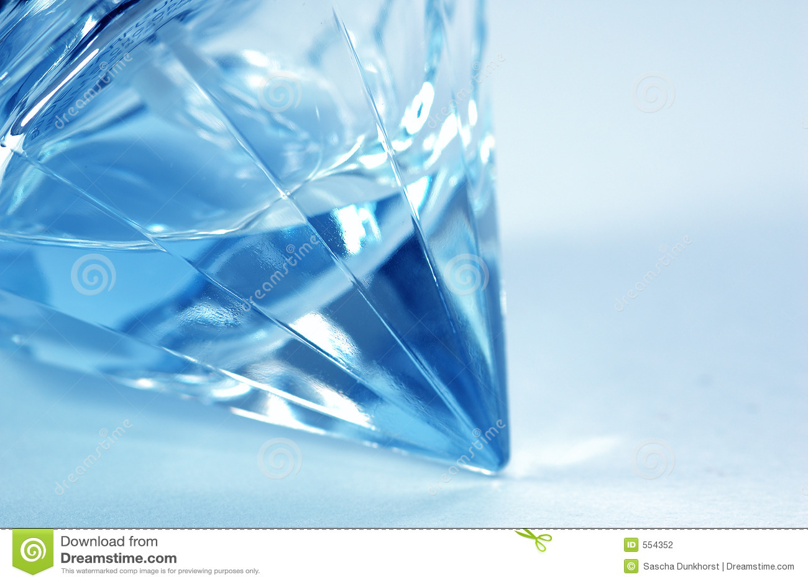Blauwe flacon