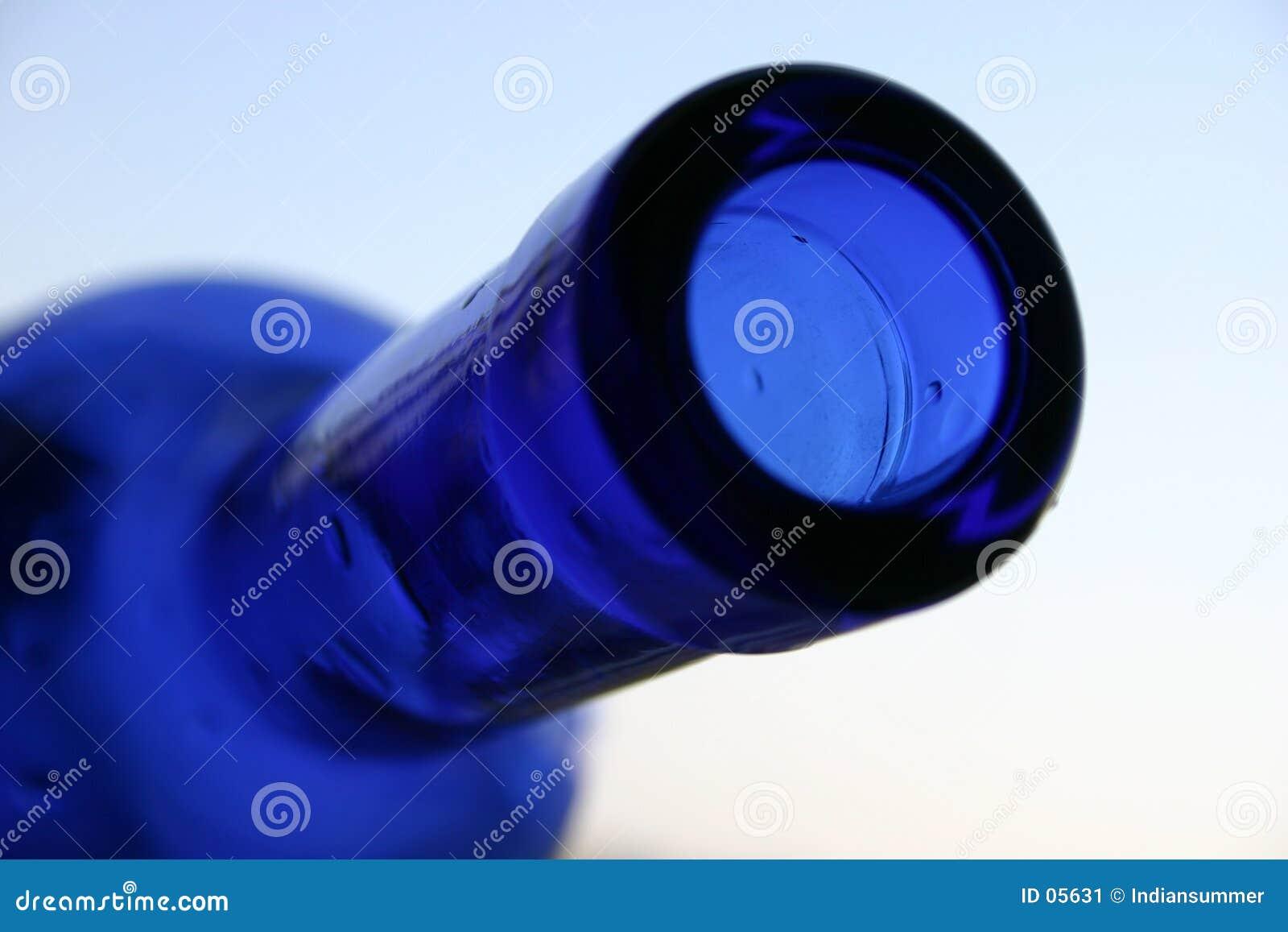 Blauwe fles