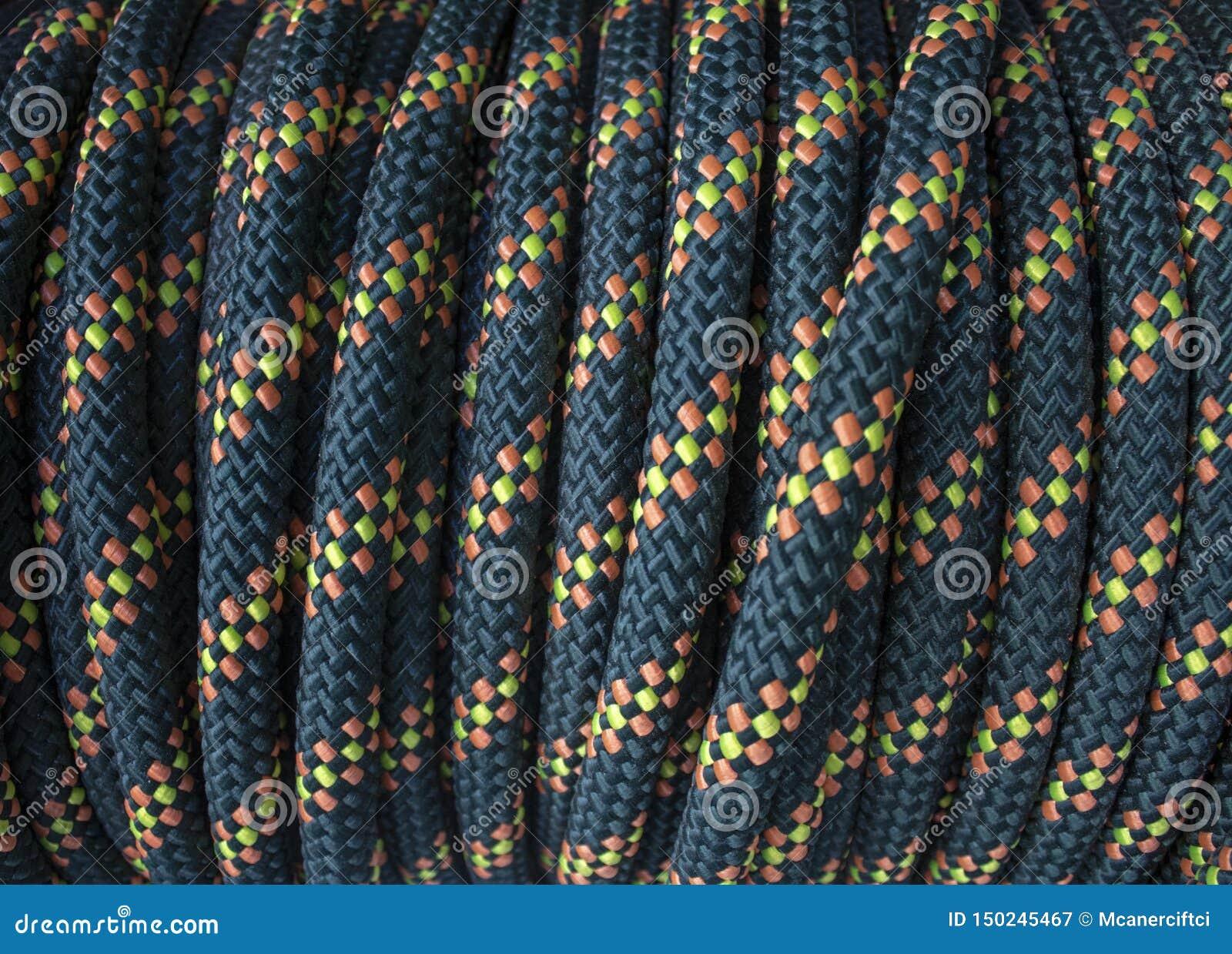Blauwe gele gevormde kabelspoel