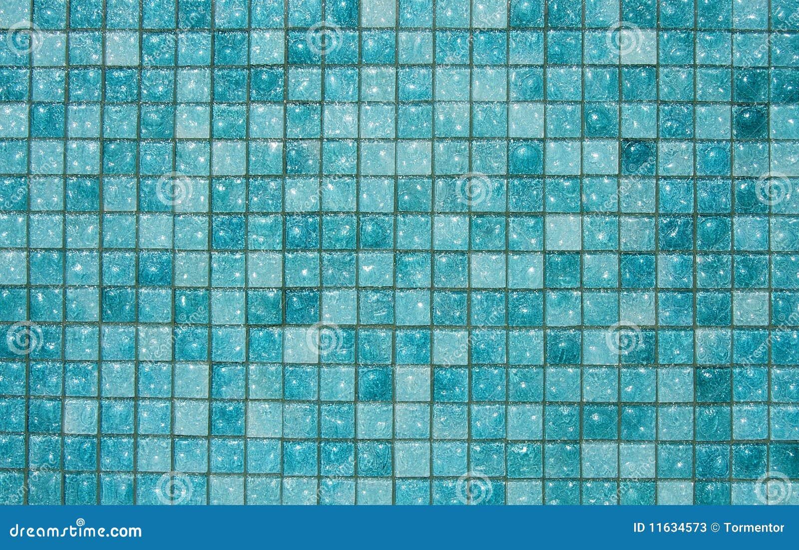 Blauwe glastegels
