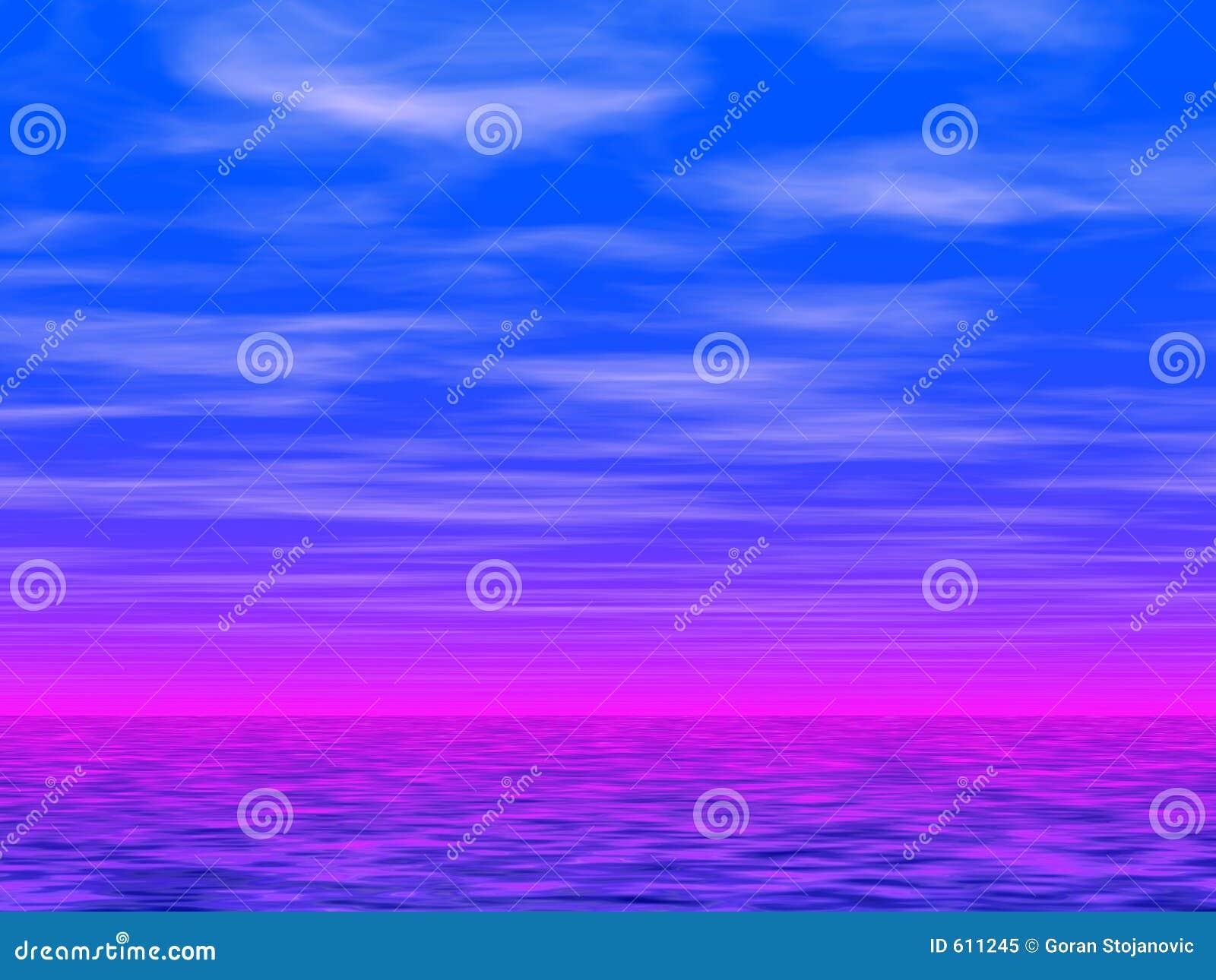Blauwe hemel en overzees 2