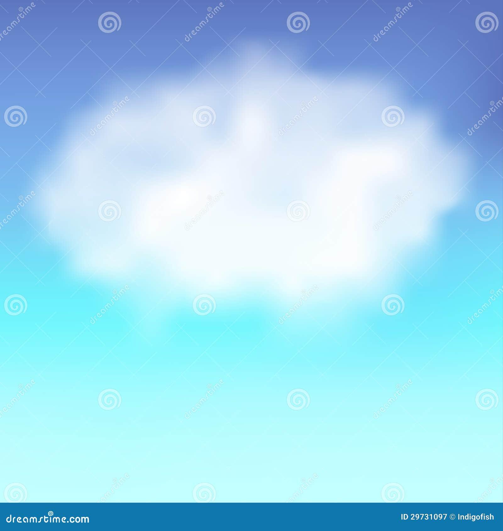 Blauwe hemel met wolk