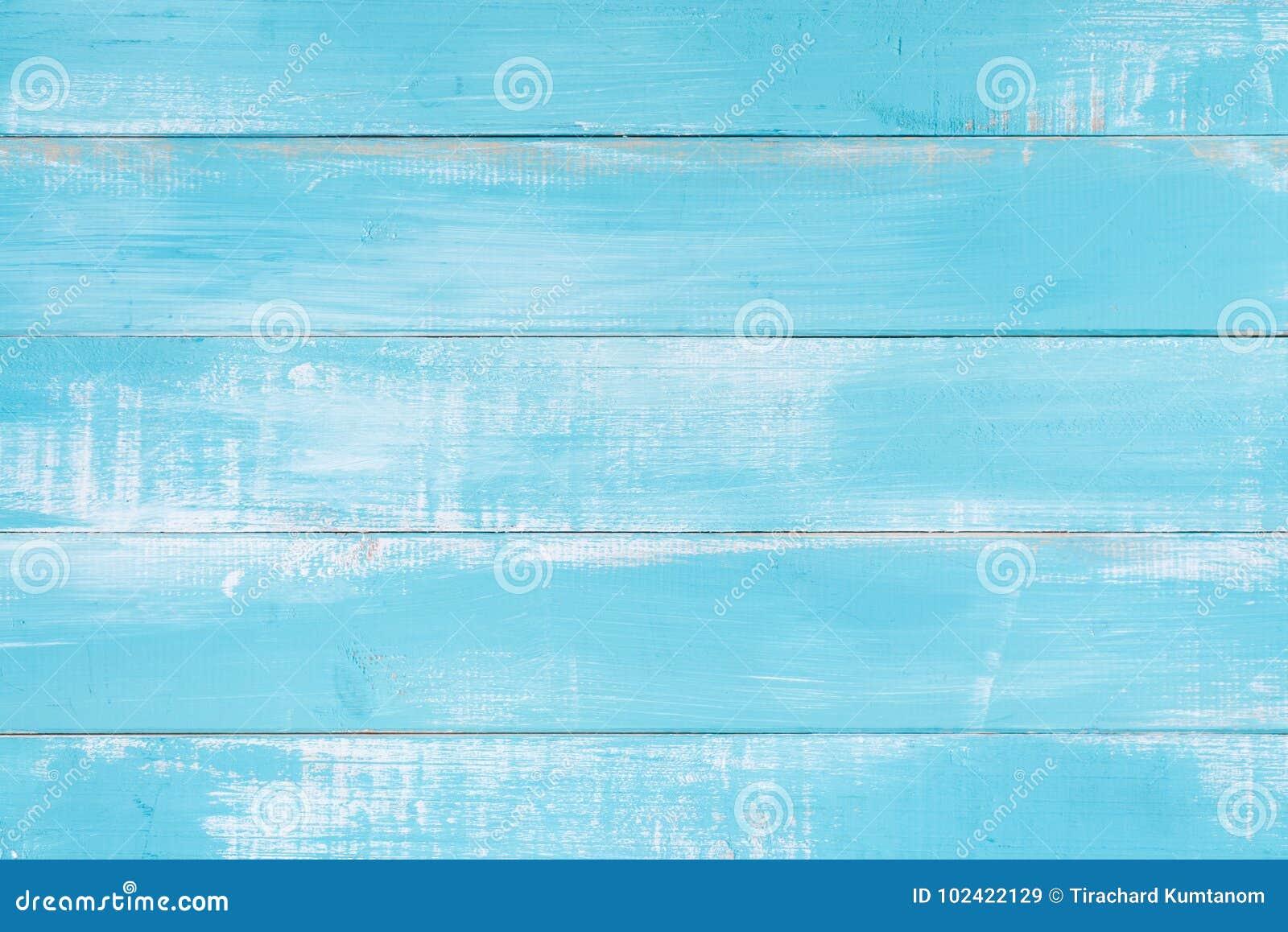 Blauwe houten textuuroppervlakte als achtergrond met oud natuurlijk patroon of oude houten de bovenkantmening van de textuurlijst