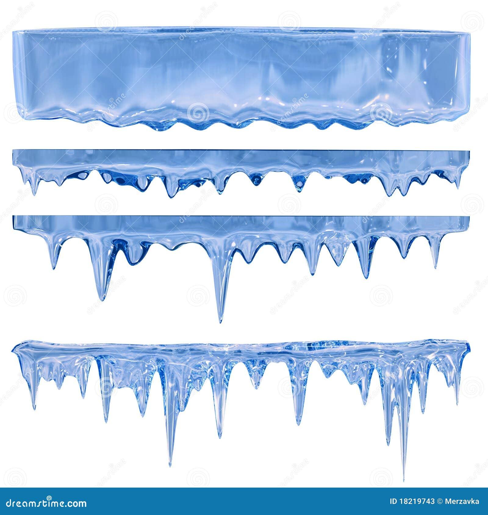 Blauwe ijskegels