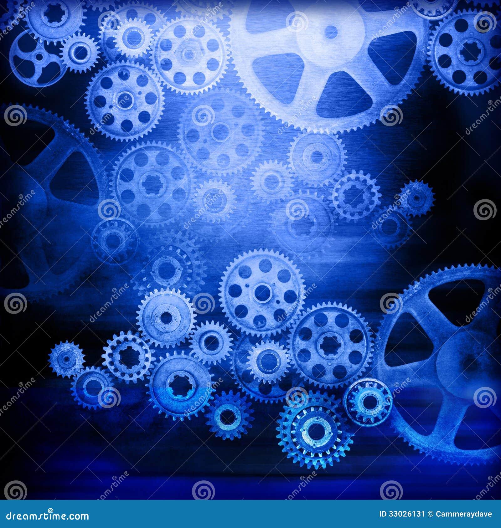 Blauwe Industriële Achtergrond