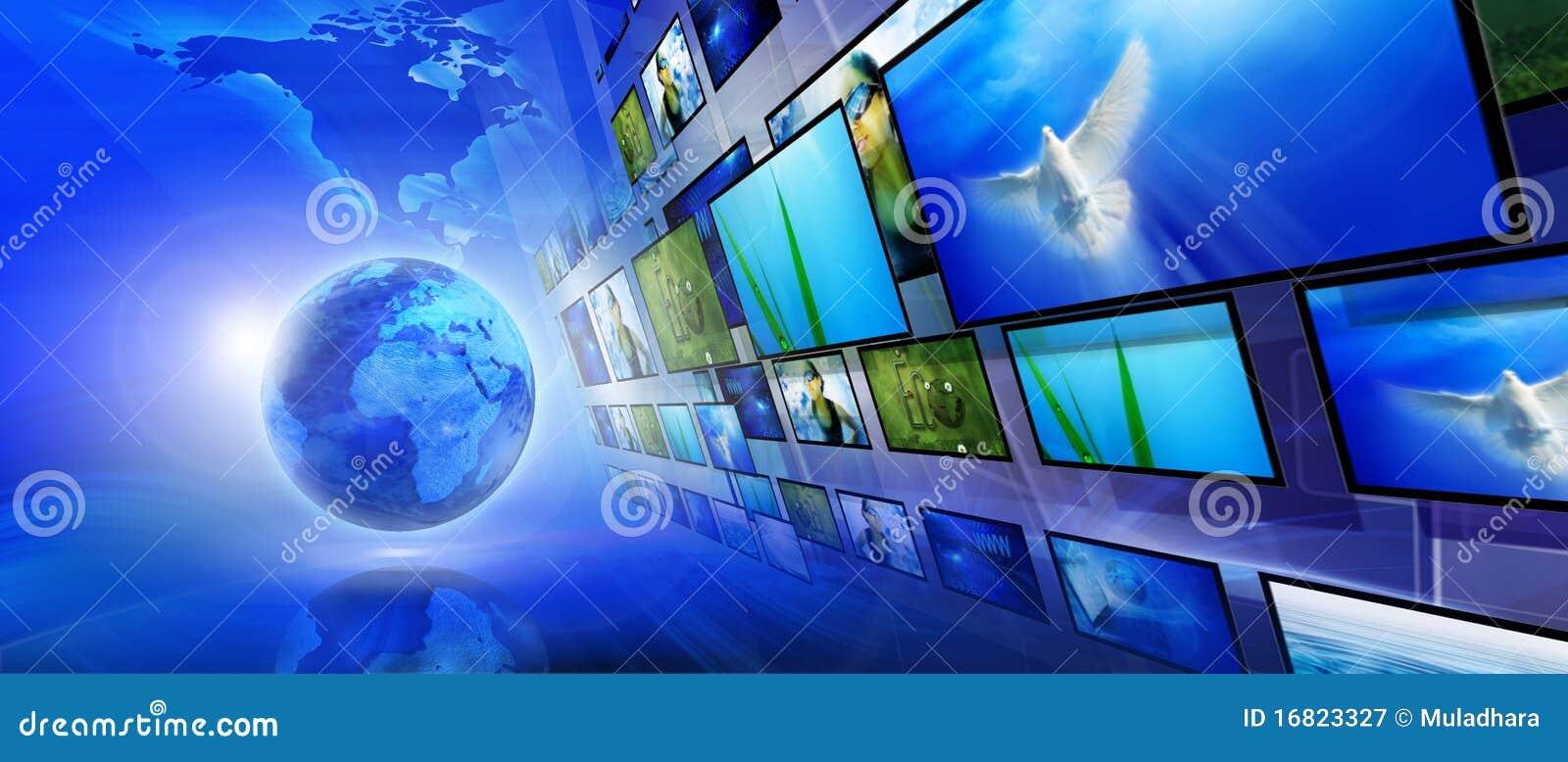 Blauwe Internet achtergrond