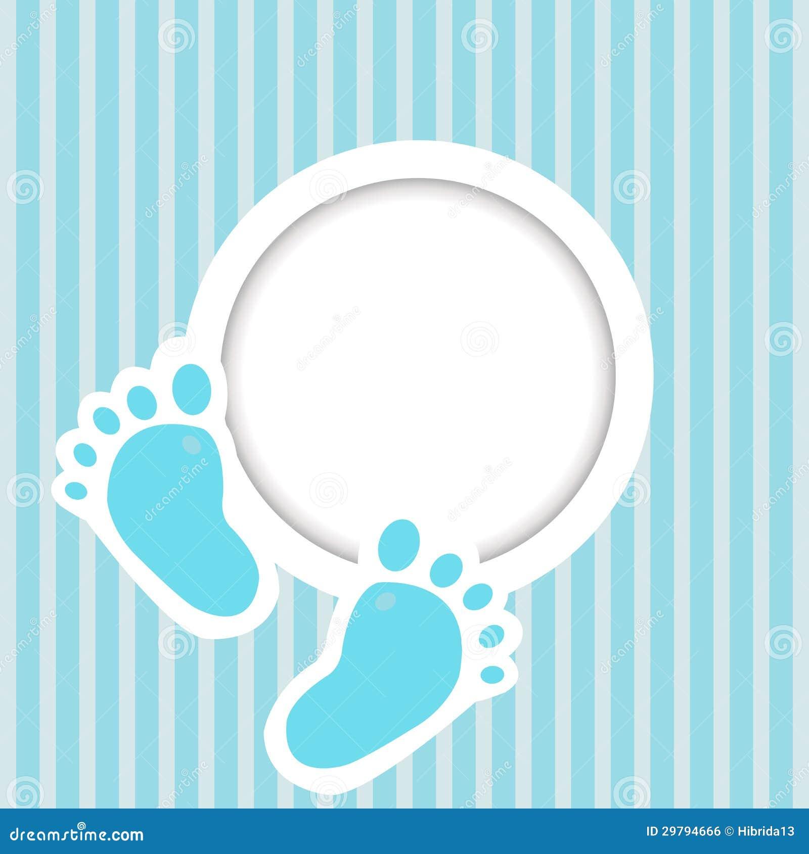 Blauwe kaart met babyvoeten royalty vrije stock afbeelding afbeelding 29794666 - Baby voet verkoop ...