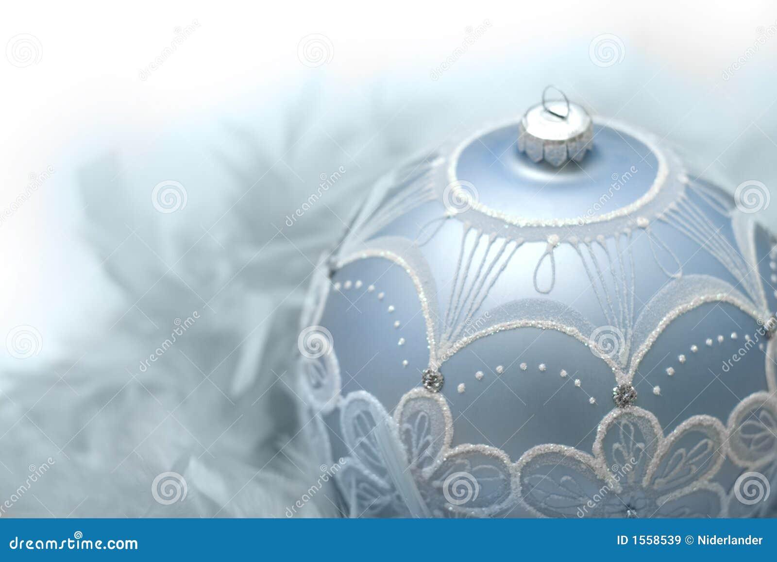 Blauwe Kerstmisbal