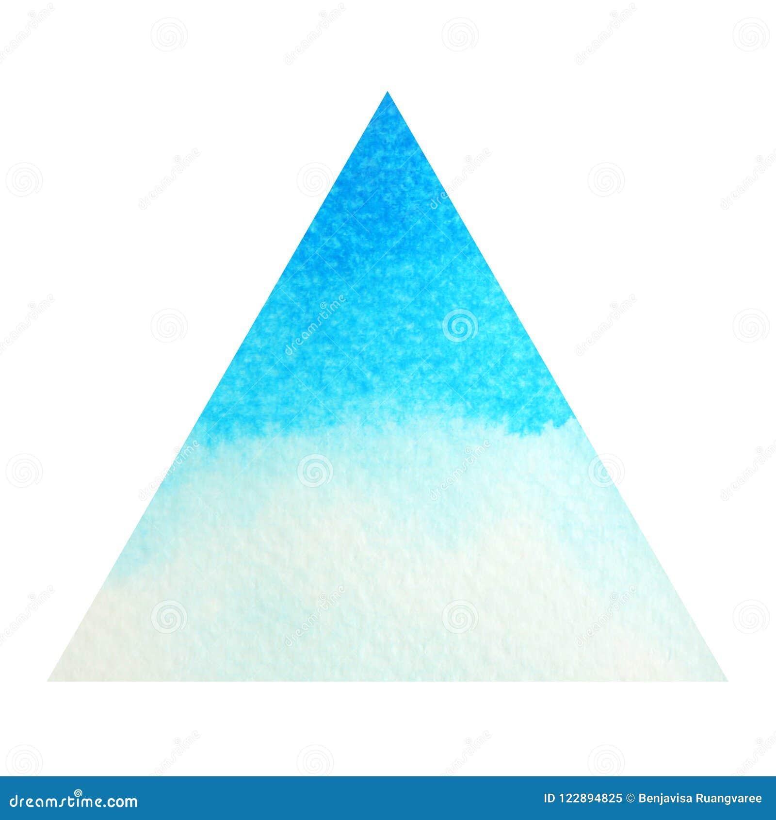 Blauwe kleur van de keelconcept van het chakrasymbool, waterverf het schilderen