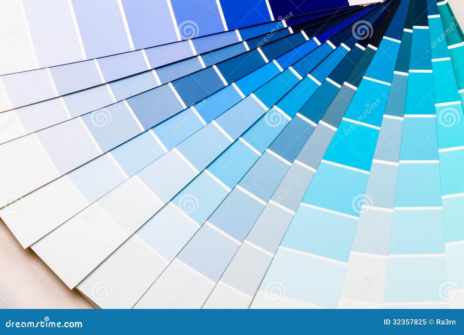Blauwe kleurenwaaier royalty vrije stock foto afbeelding 32357825 - Gamas de colores azules ...