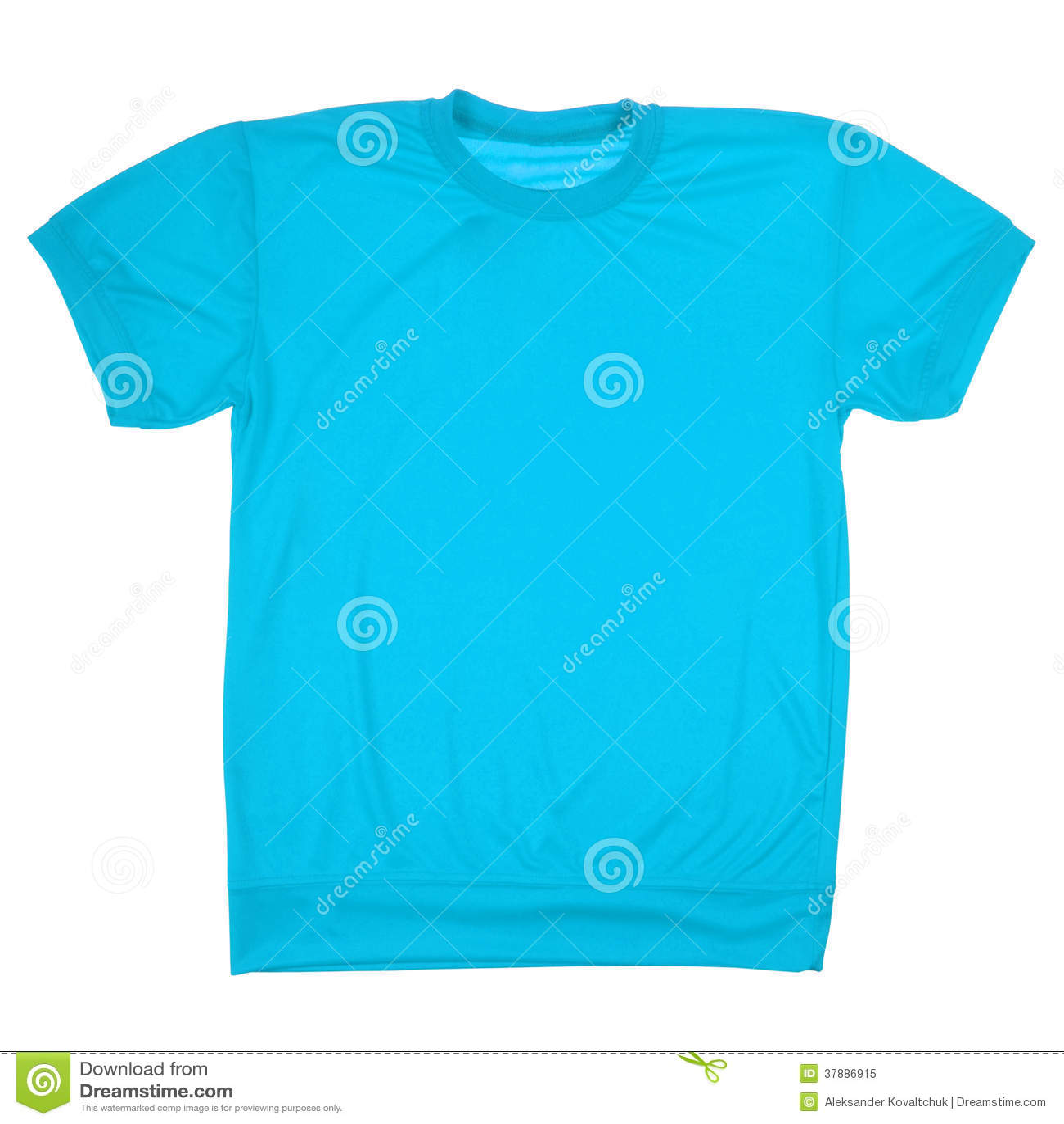Blauwe lege t-shirt (het Knippen weg)