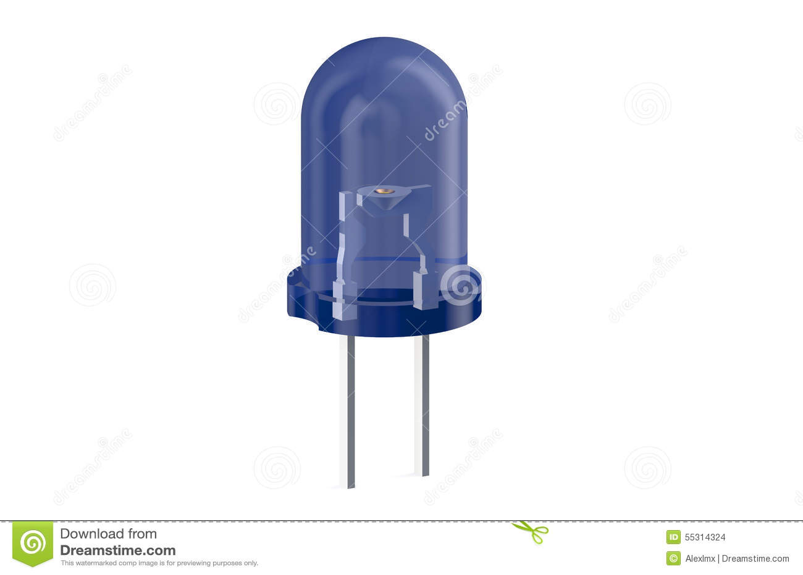 Blauwe LEIDENE lichtgevende diode