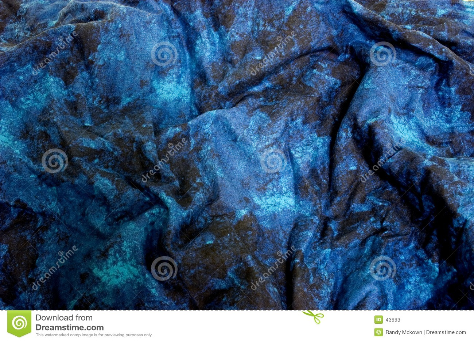Blauwe marmeren stof