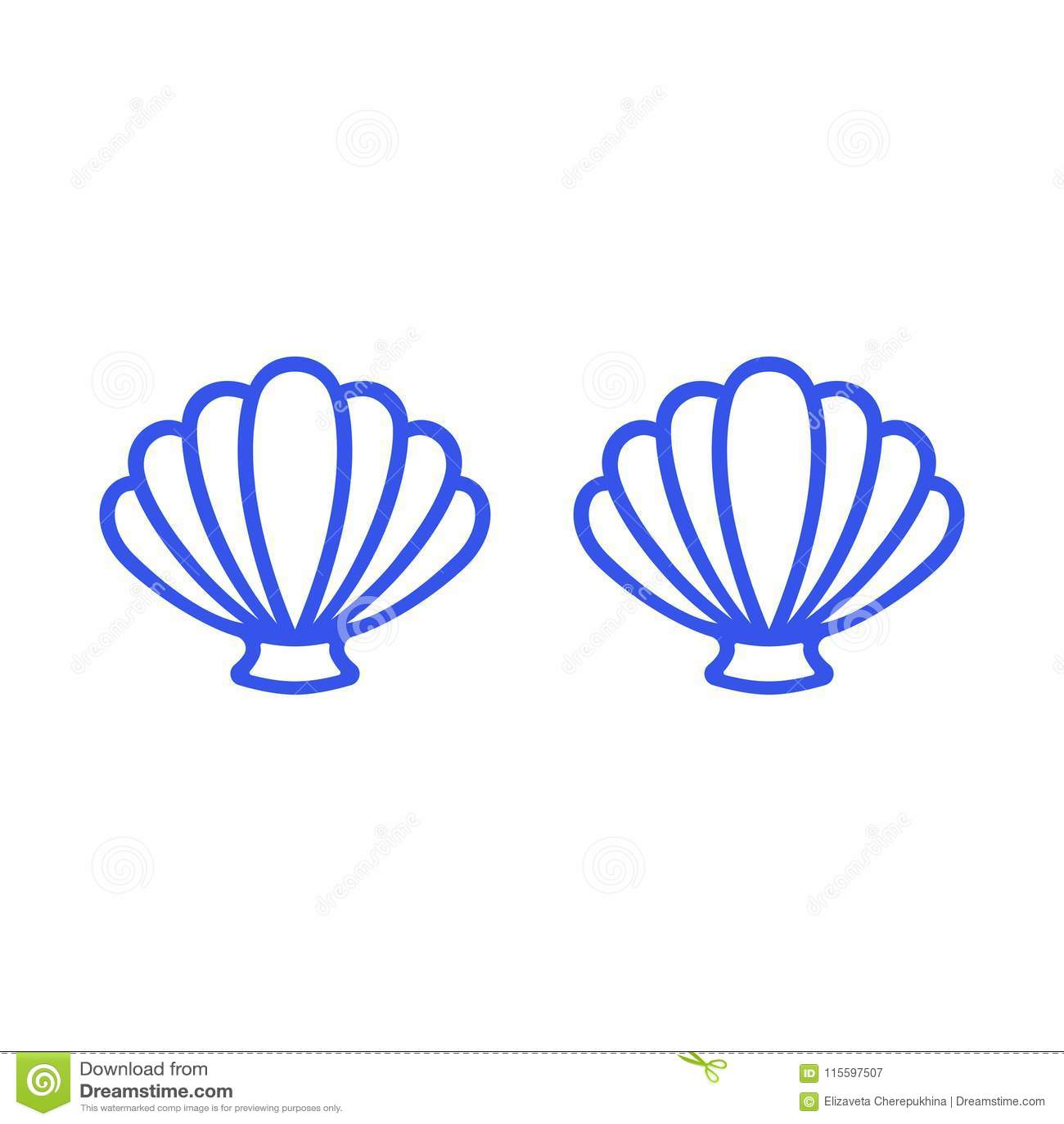 Blauwe meerminbustehouder De bovenkant van de overzichtsmeermin - t-shirtontwerp Kammossel overzeese shell clam conch Zeeschelp -