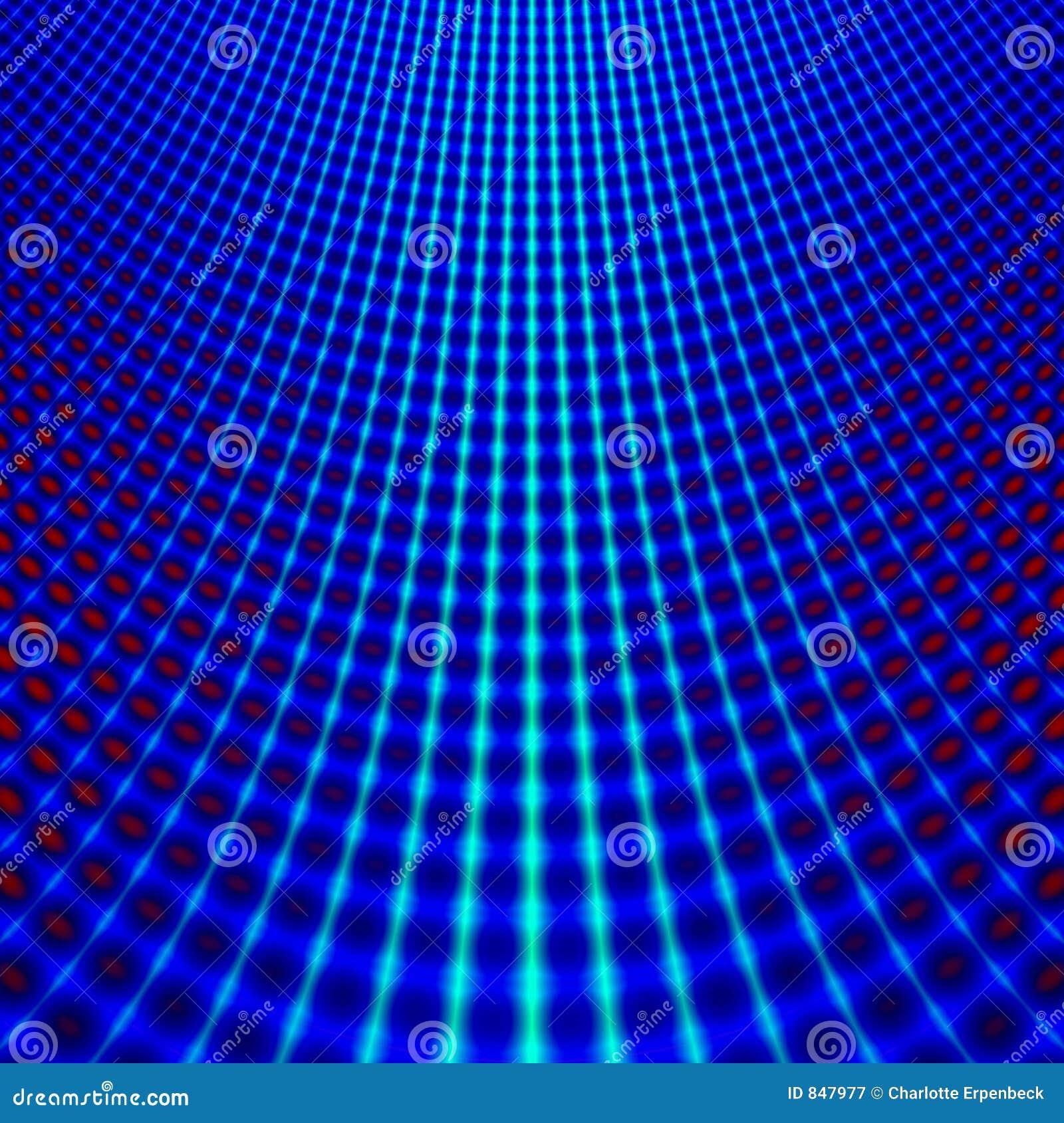 Blauwe netfractal