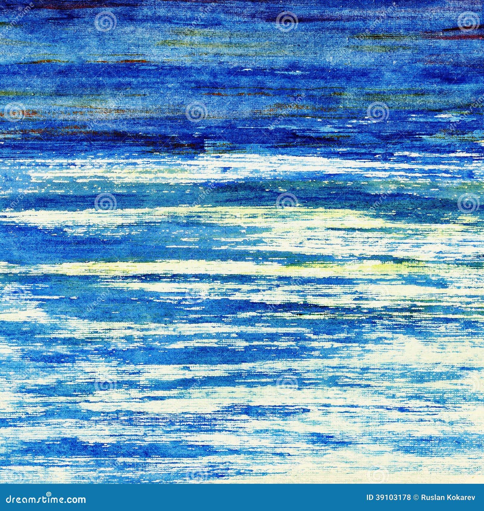 Blauwe oceaan.