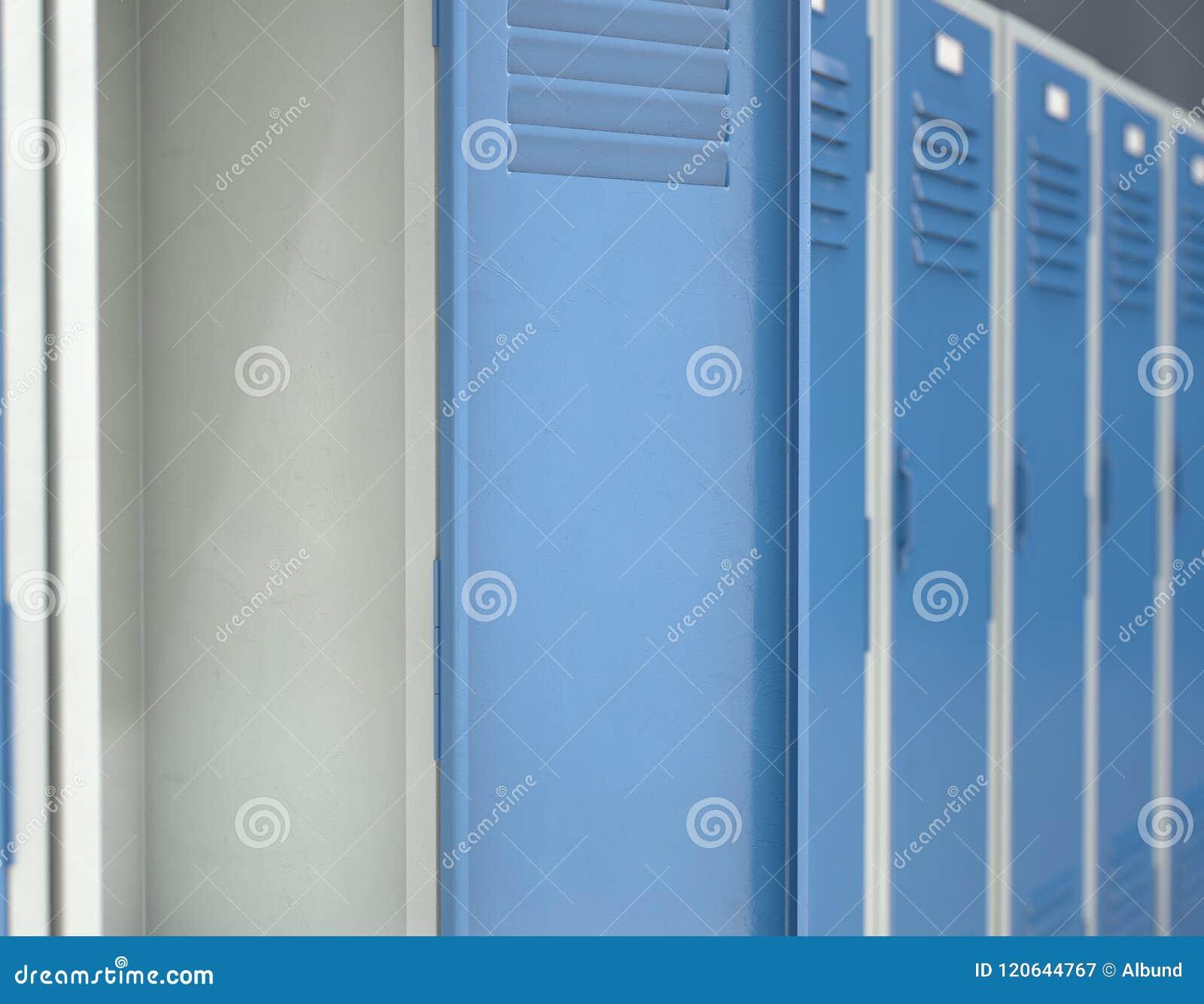 Blauwe Open Kast
