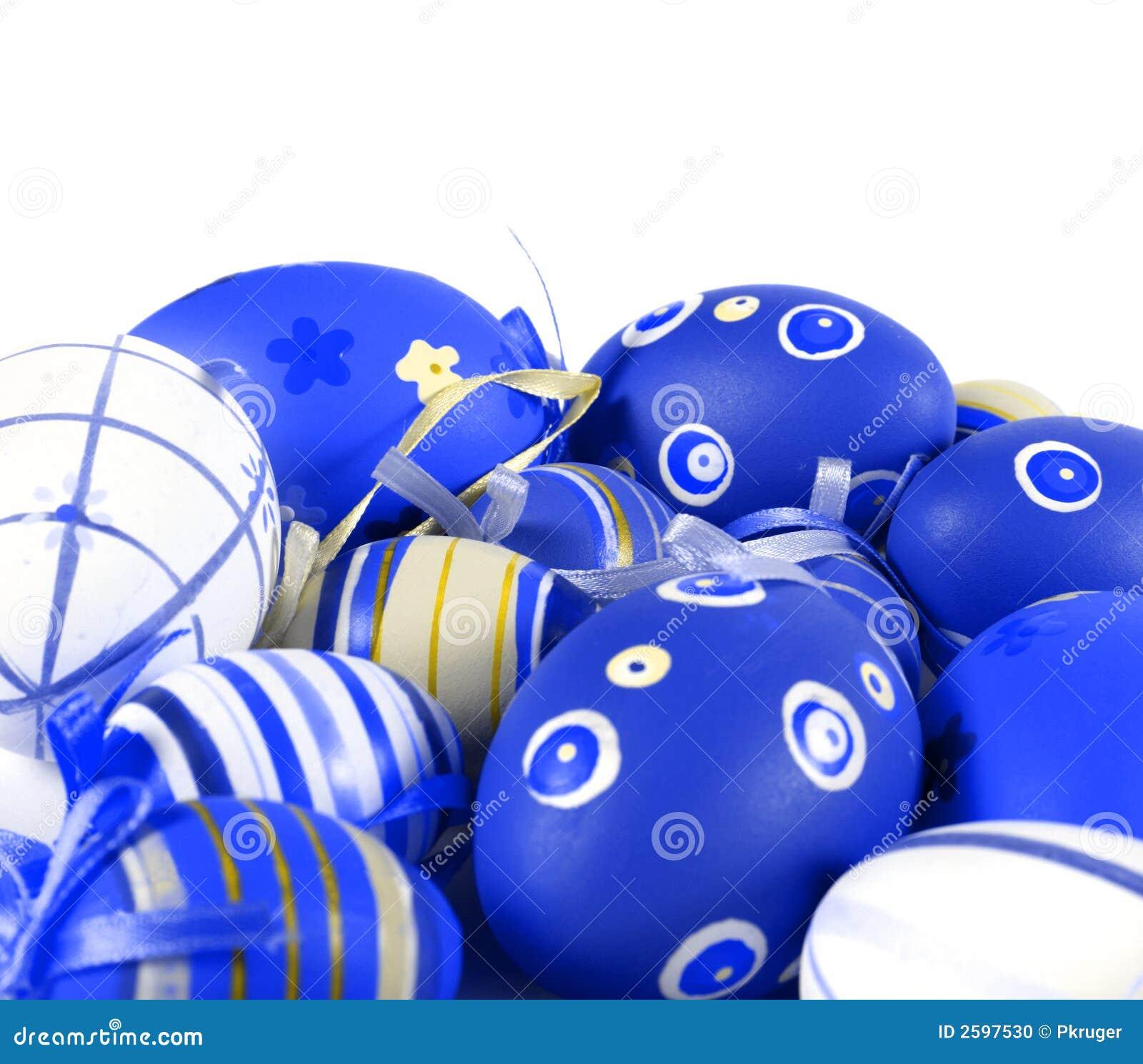 Blauwe Paaseieren