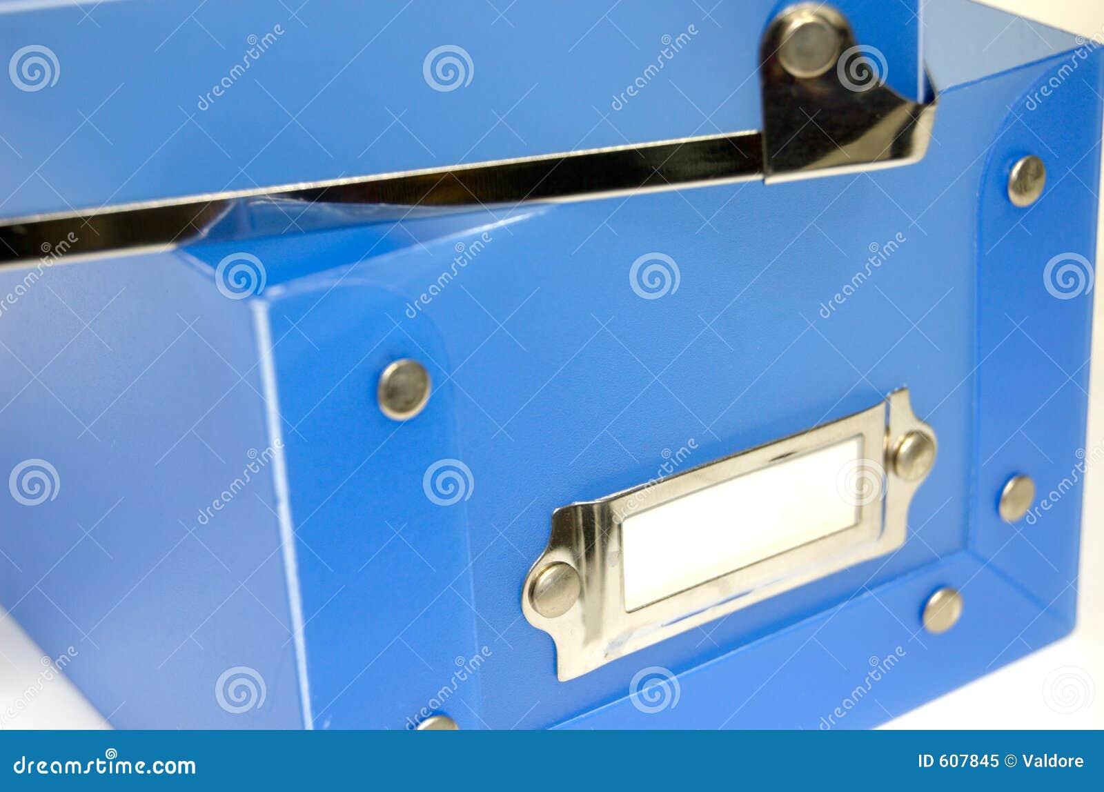 Blauwe Plastic Doos