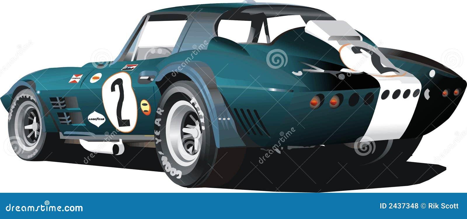 Blauwe Raceauto