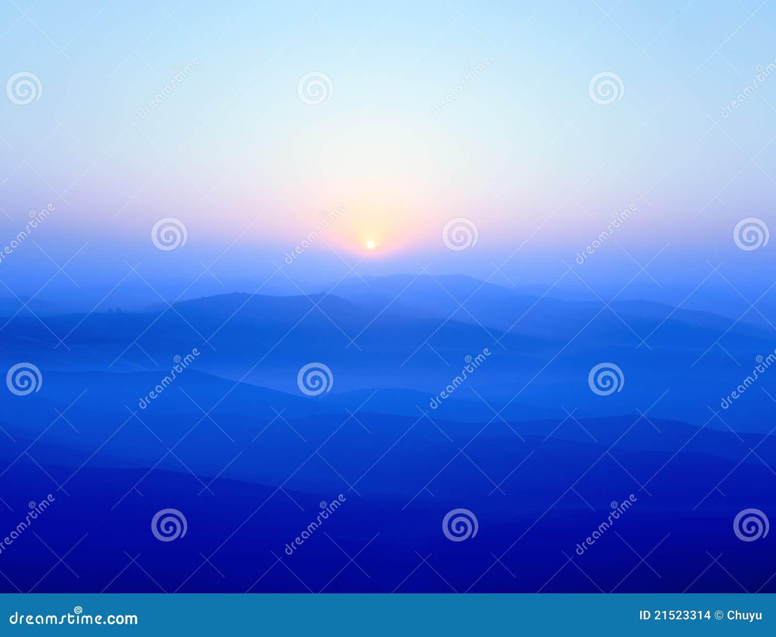 Blauwe randbergen