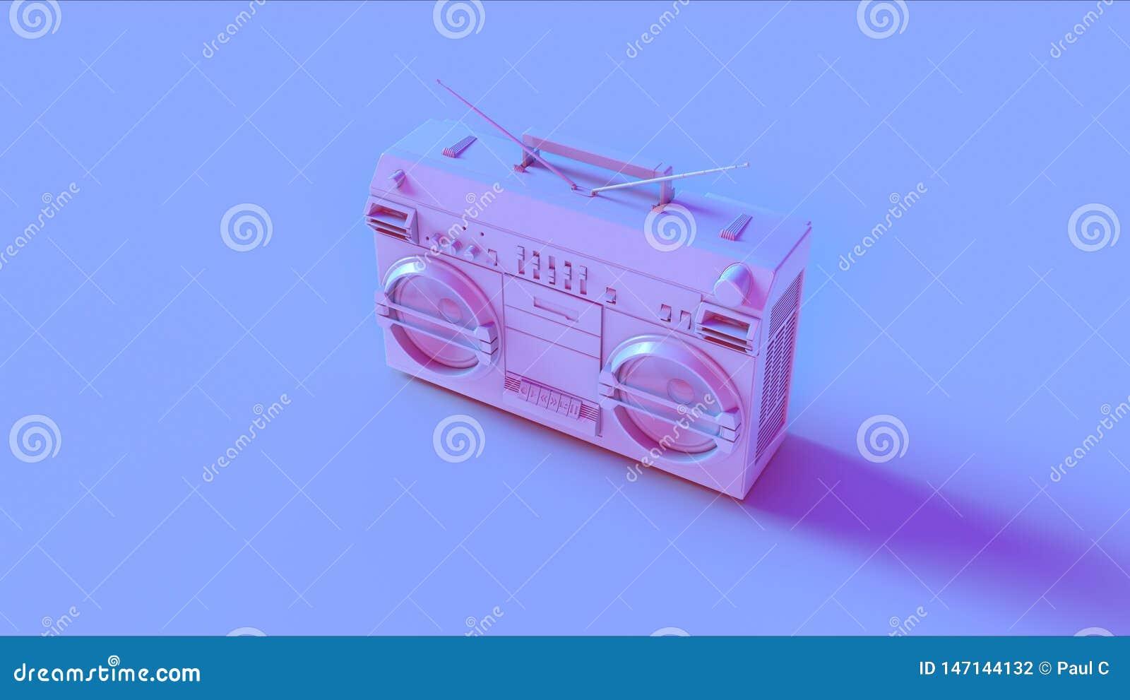 Blauwe Roze Boombox