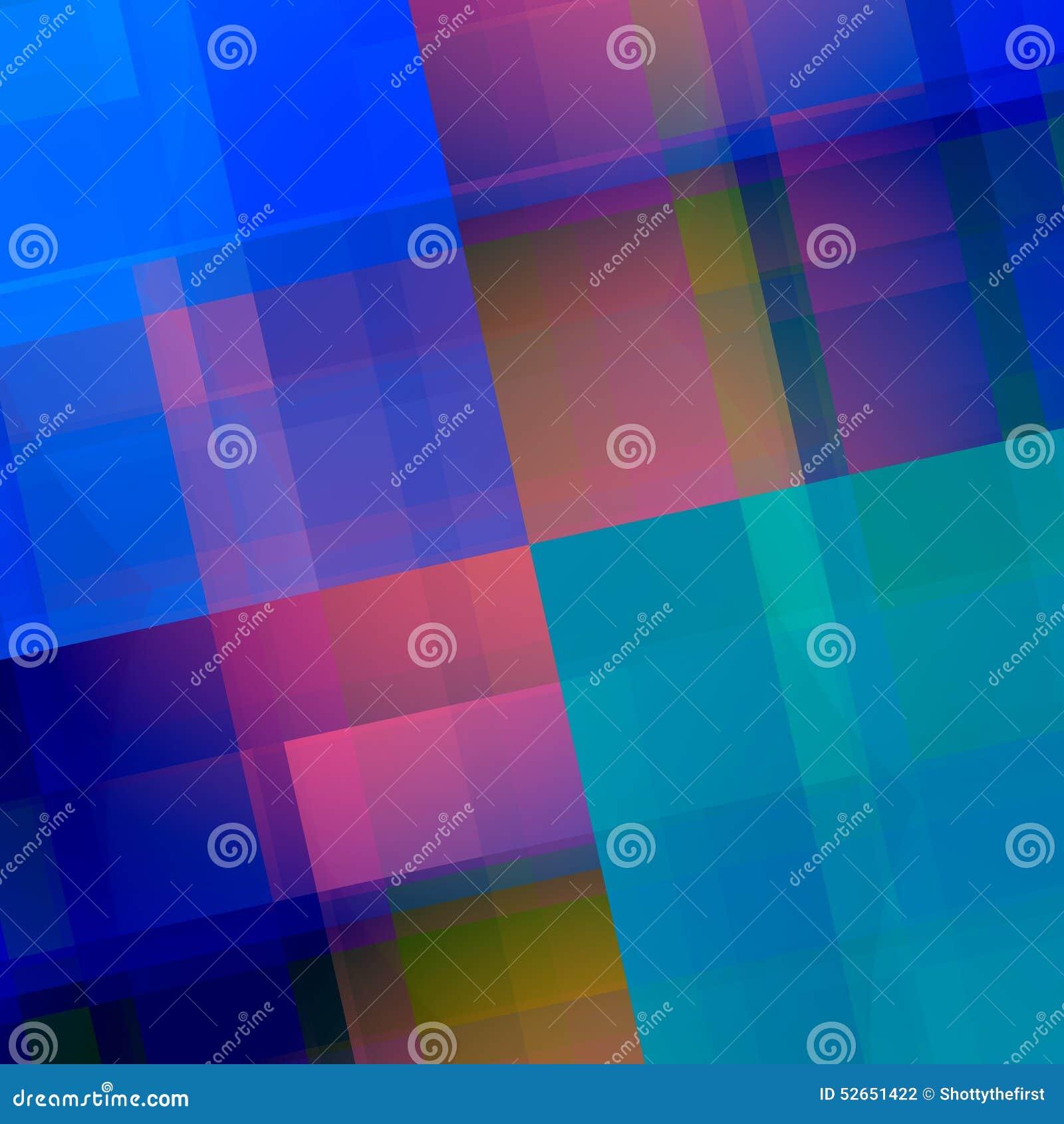 Blauwe Roze Geometrische Achtergrond Abstract achtergrondontwerp Elegant Art Illustration met Purpere Kleurenblokken Creatief Muu