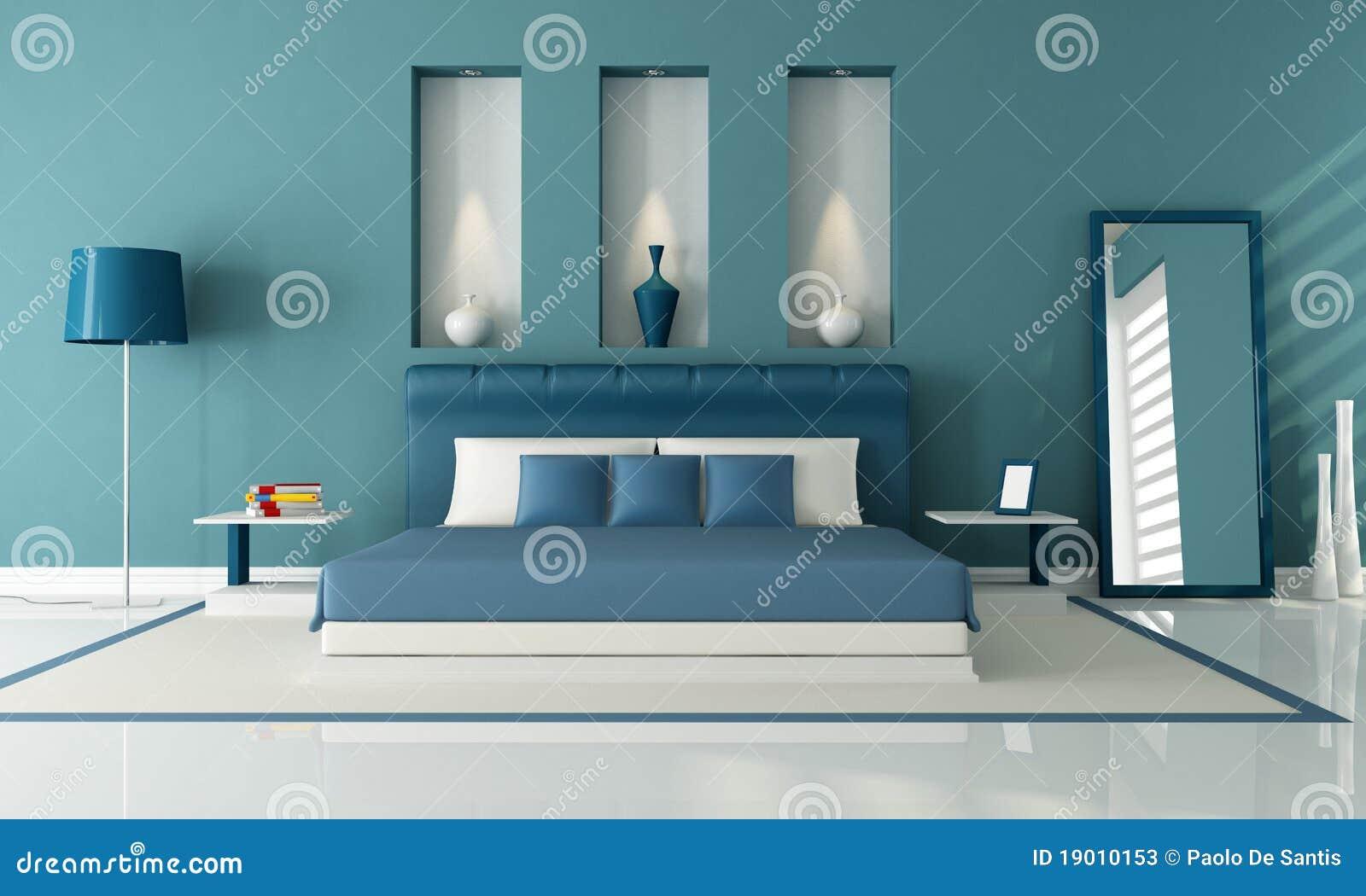 Blauwe Slaapkamer Muur : Blauwe Slaapkamer Stock Fotos - Afbeelding ...